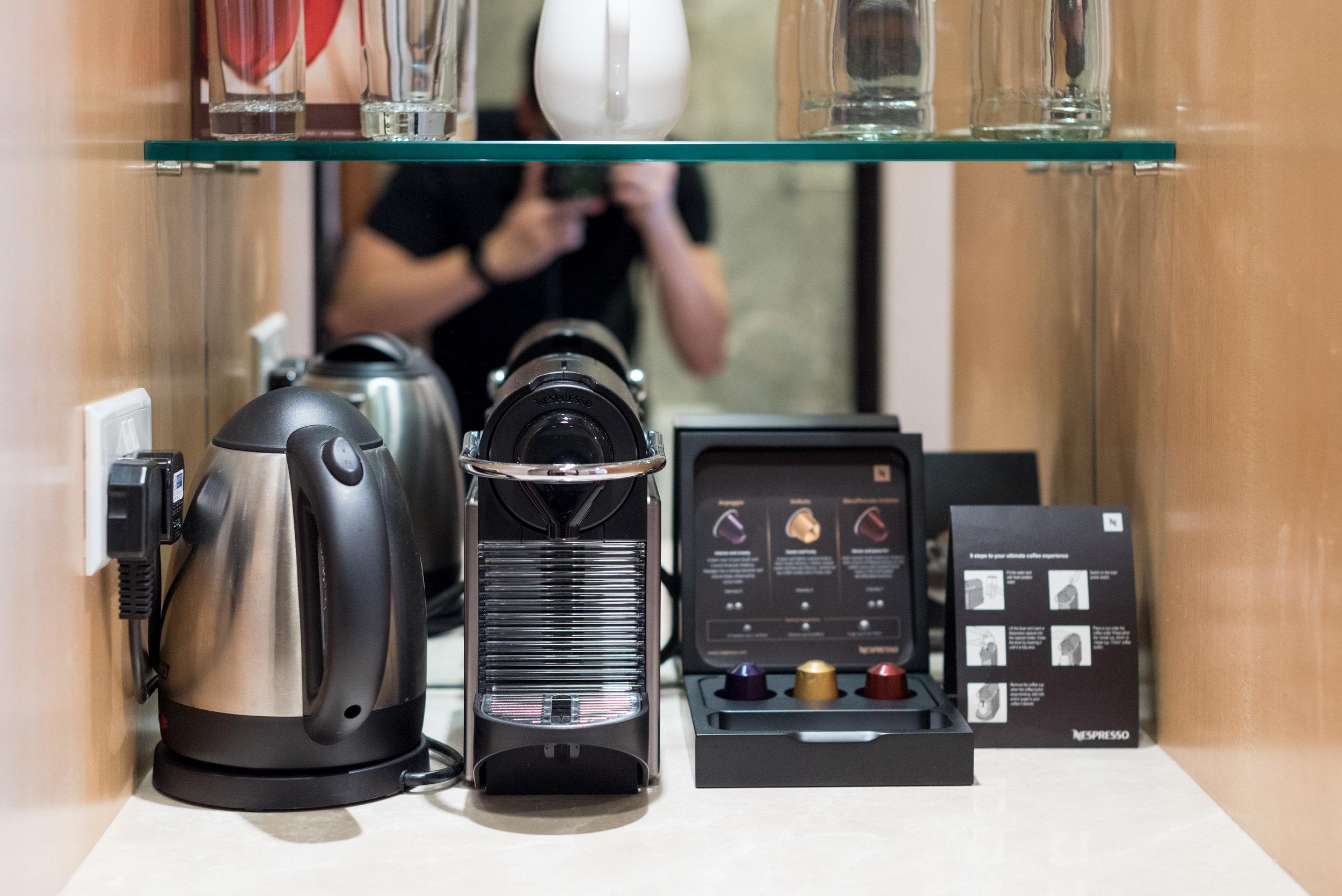 Nespresso Coffee Machine  Executive Room - Hilton Singapore