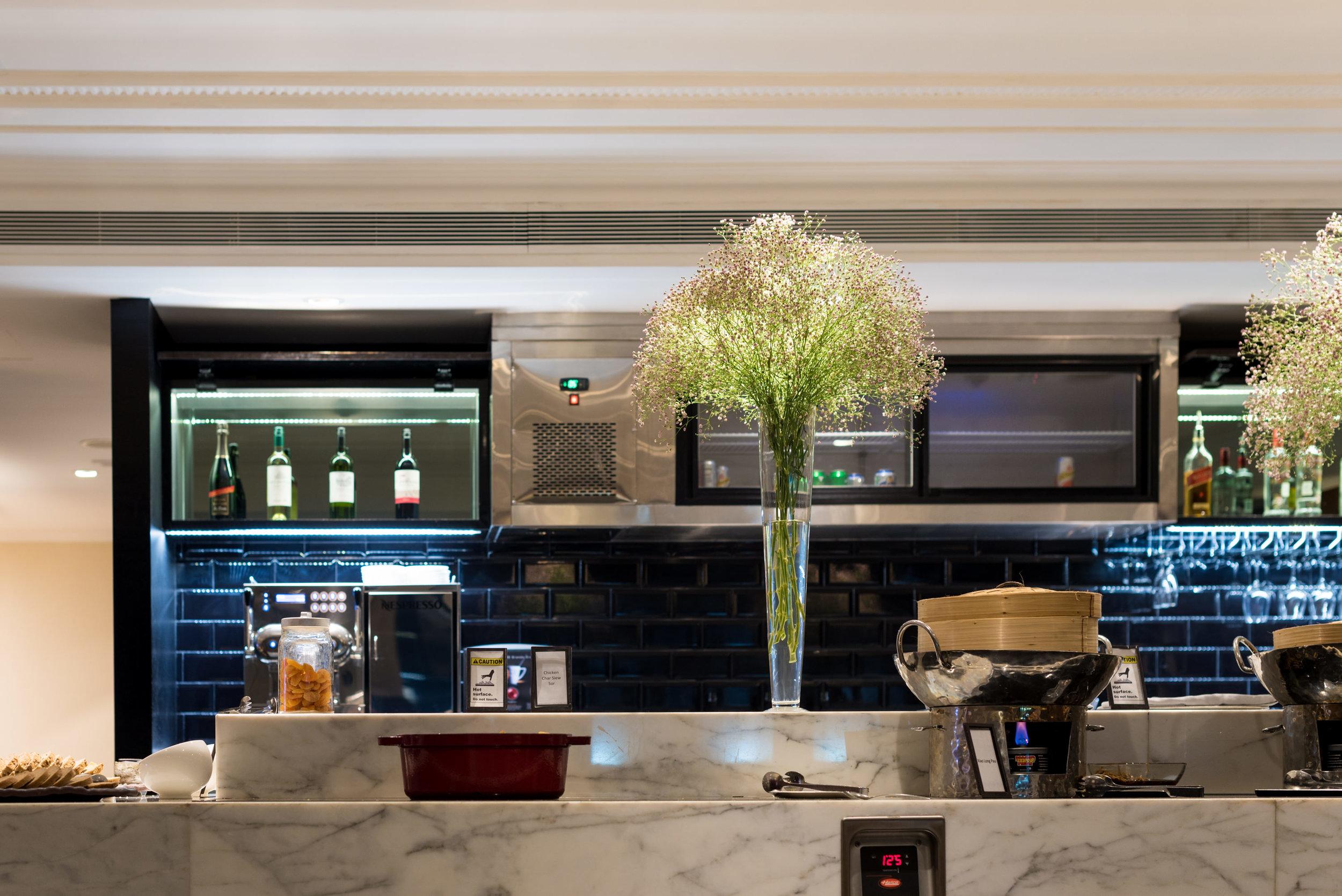 Evening Cocktails and Canapes  Executive Lounge - Hilton Singapore