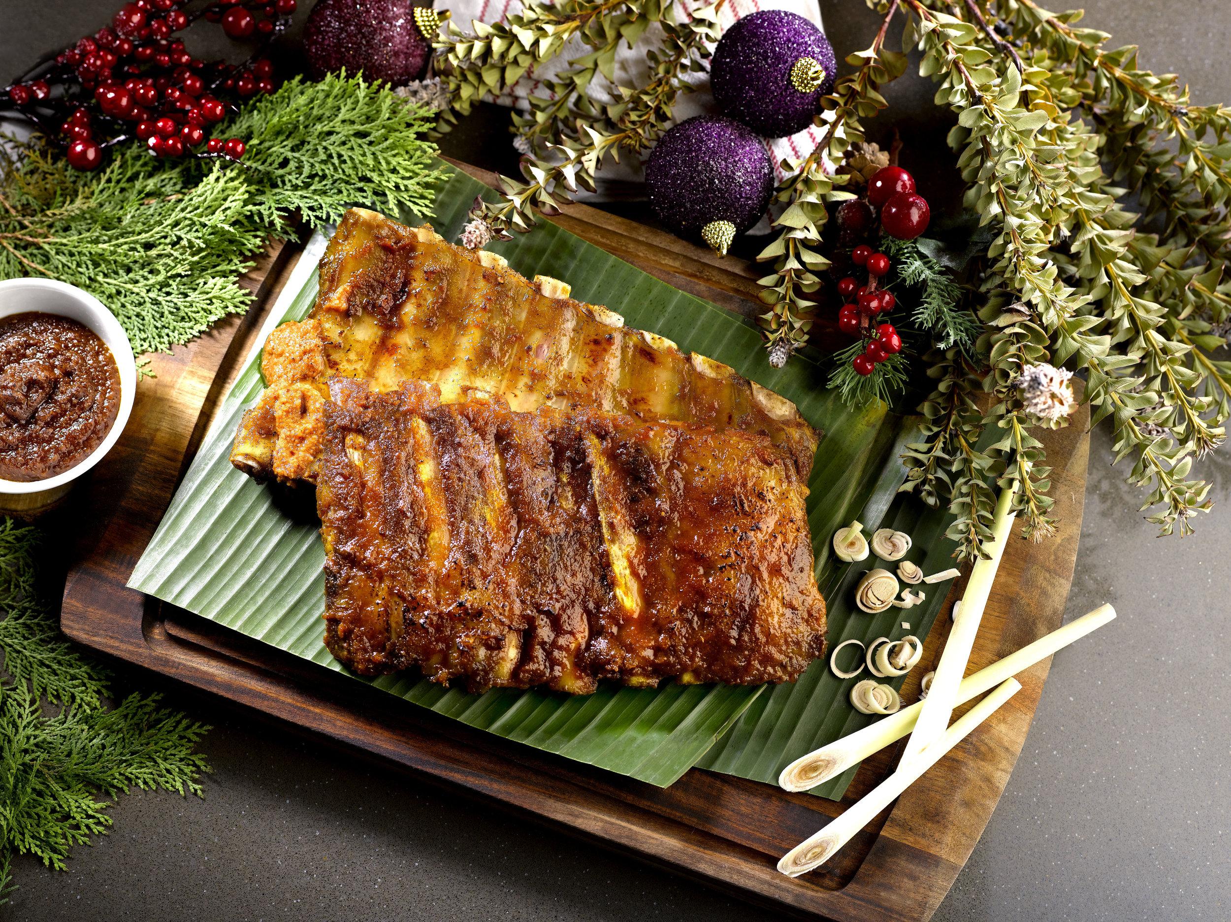 Satay-marinated Iberico Pork Rib   Photo Credit: Crowne Plaza Changi Airport