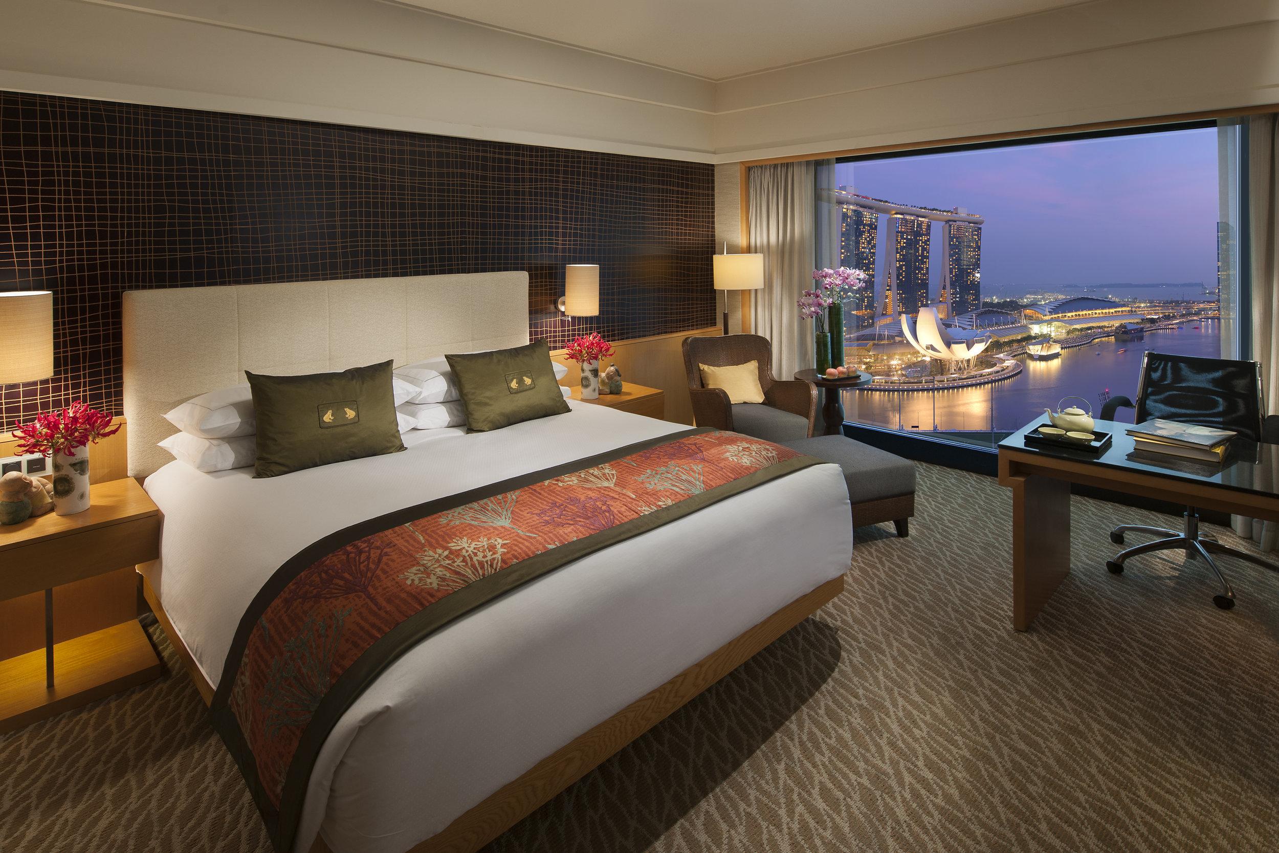 Marina Bay View Room | Photo Credit: Mandarin Oriental, Singapore