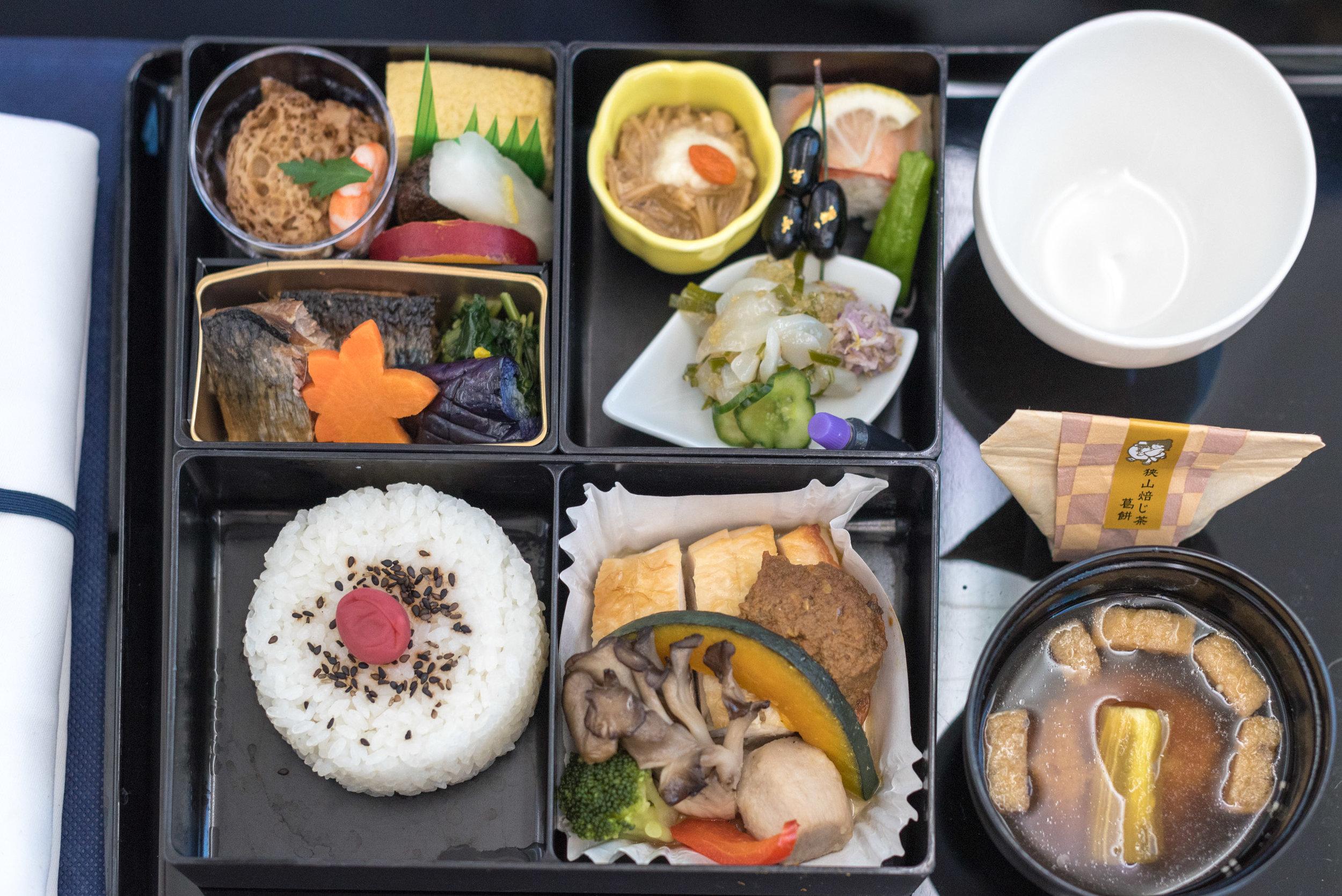 Japanese Cuisine (Washoku)  ANA Business Class 787-900 - NH859 (HND-HKG)