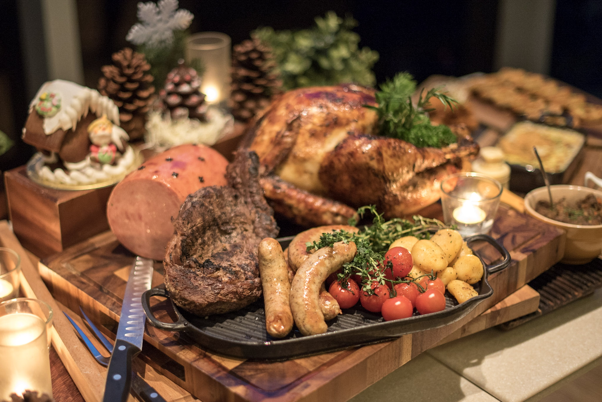 Christmas Carve and Craft Board -  Christmas Day Luncheon     Pan Pacific Singapore