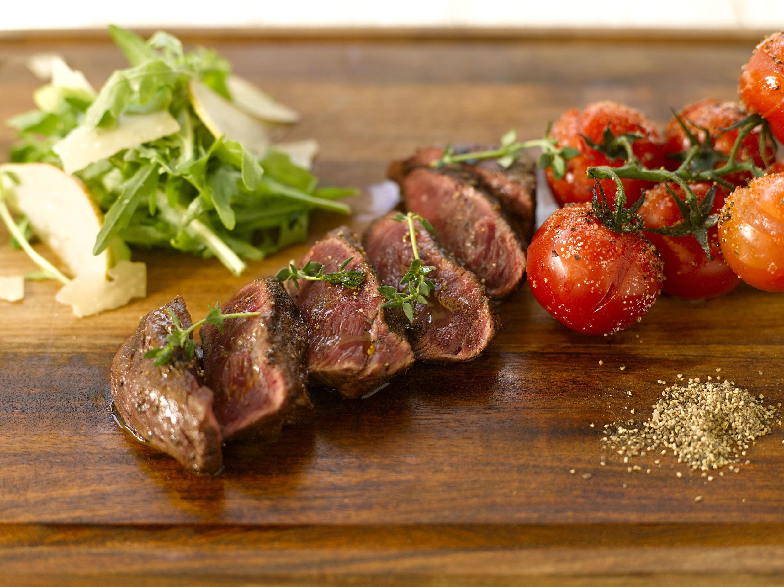 Grass-fed Flat Iron Steak | Photo Credit: Grand Hyatt Singapore
