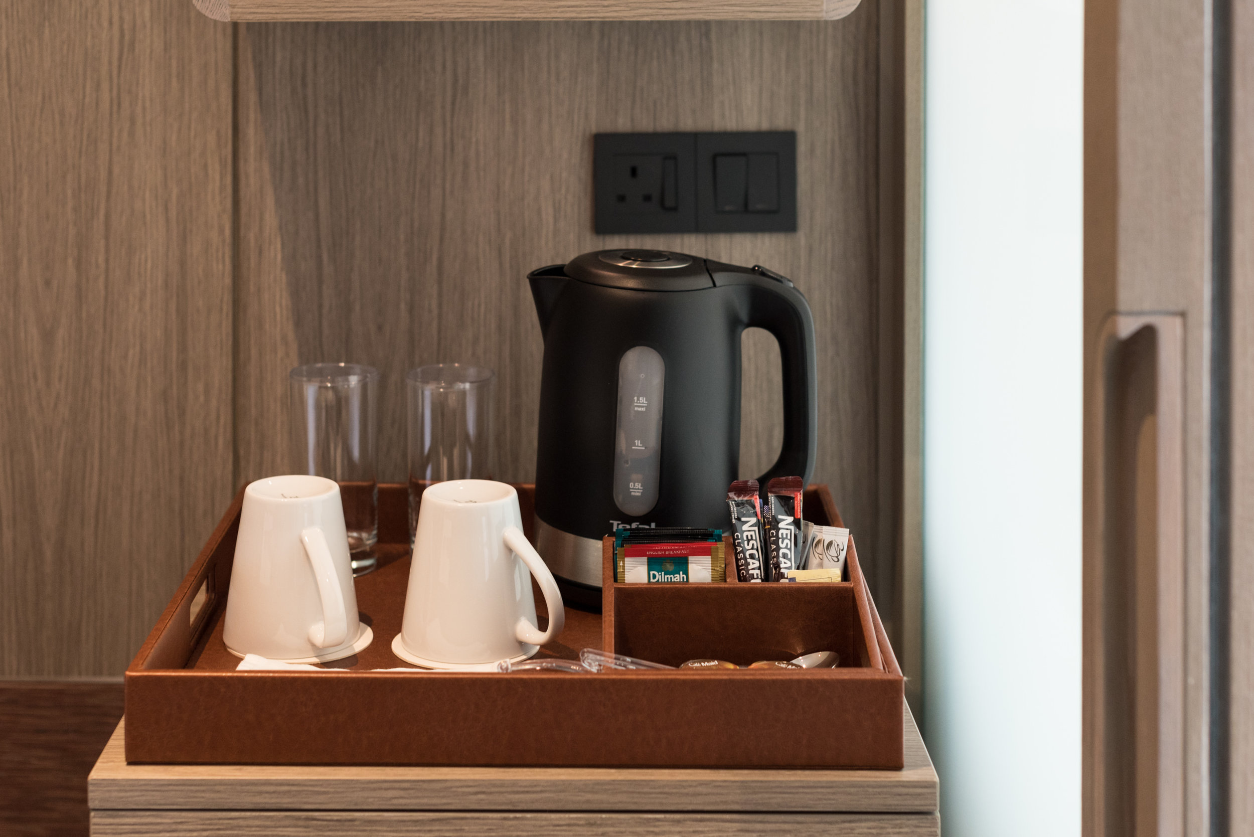 Coffee and Tea Making Facilities - Business Room (King)  Crowne Plaza Changi Airport