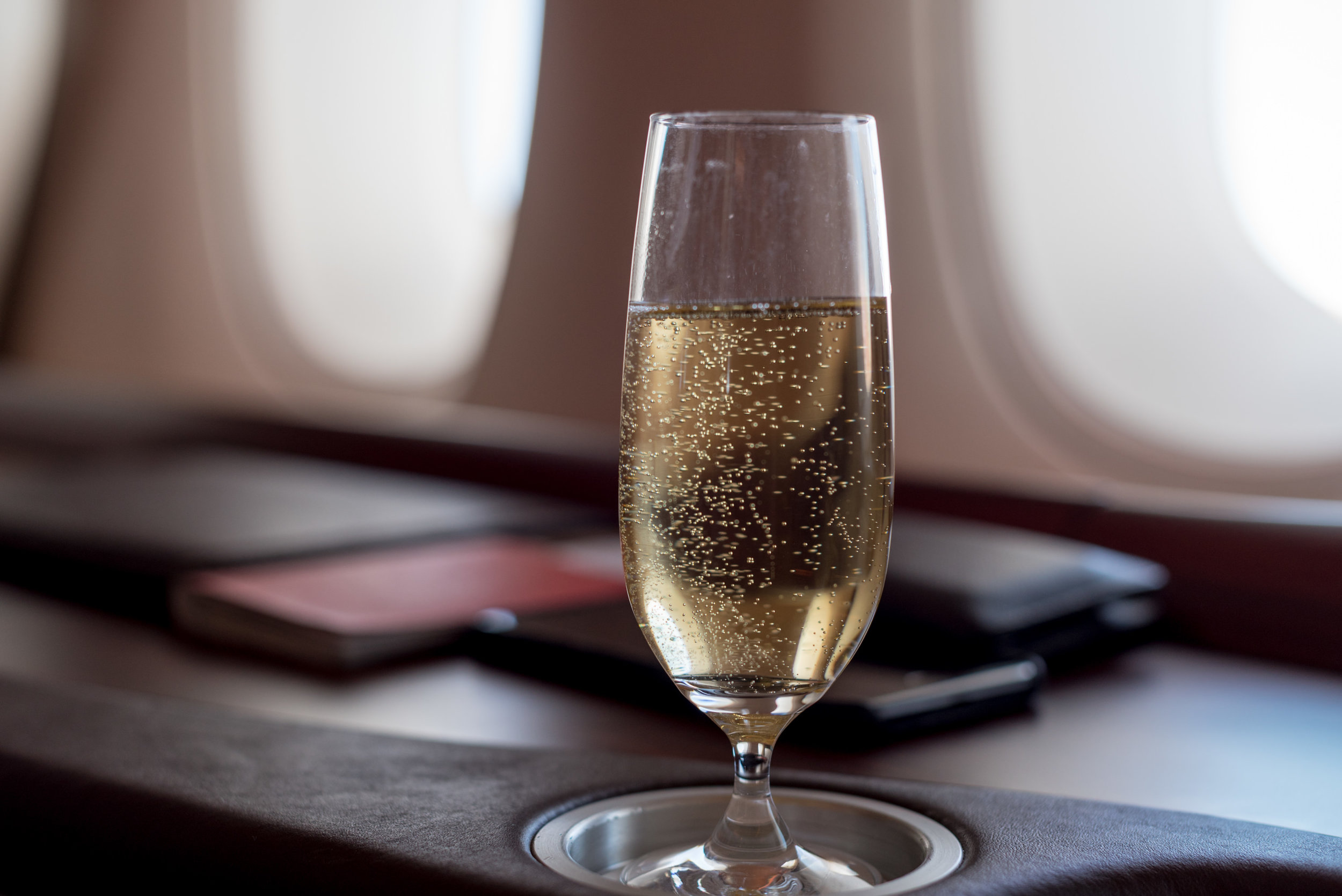 Krug Champagne   Singapore Airlines Suites A380-800 - AKL to SIN