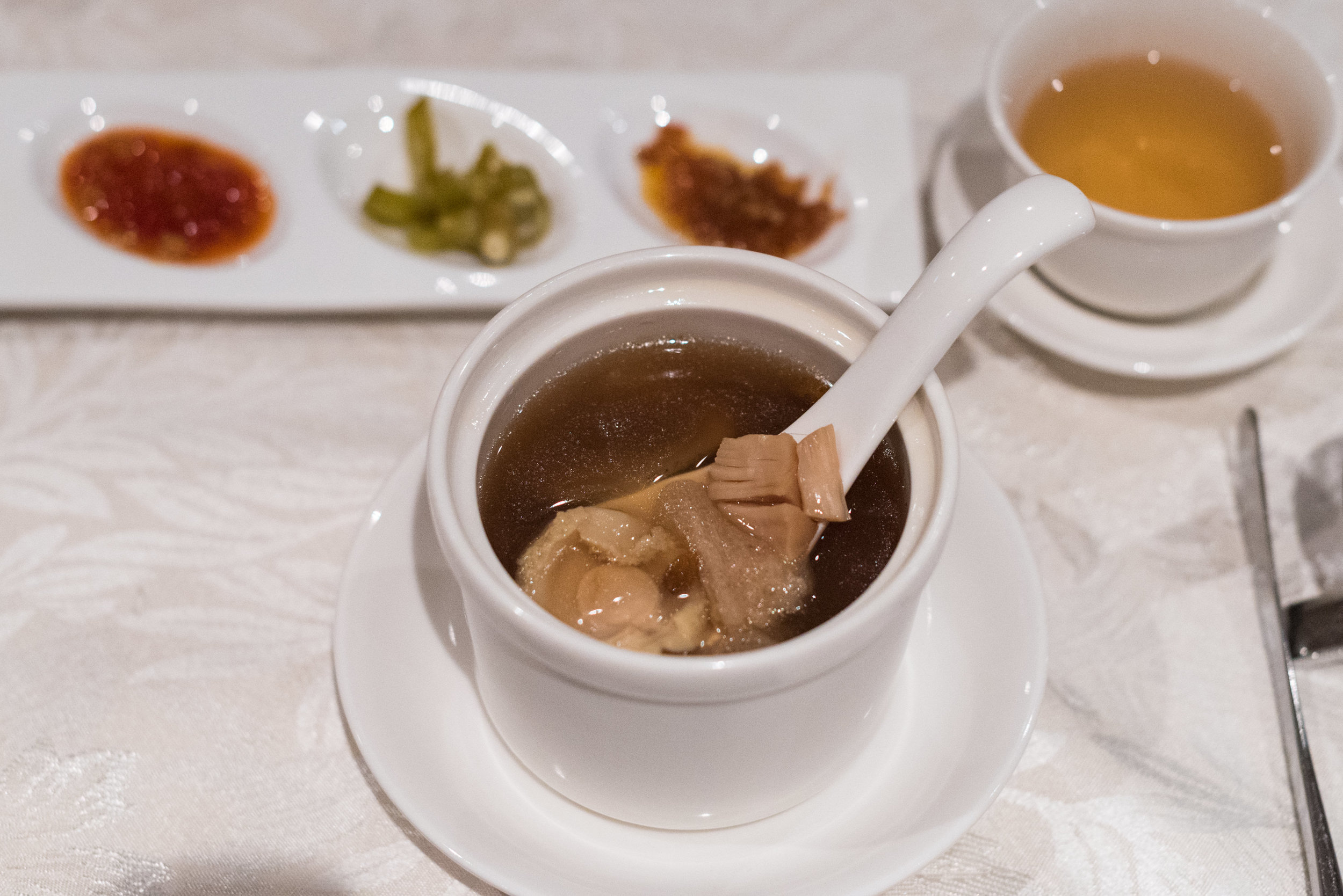 Double-boiled Buddha Jumps Over the Wall with Maca and Wolfberries  Hai Tien Lo - Pan Pacific Singapore