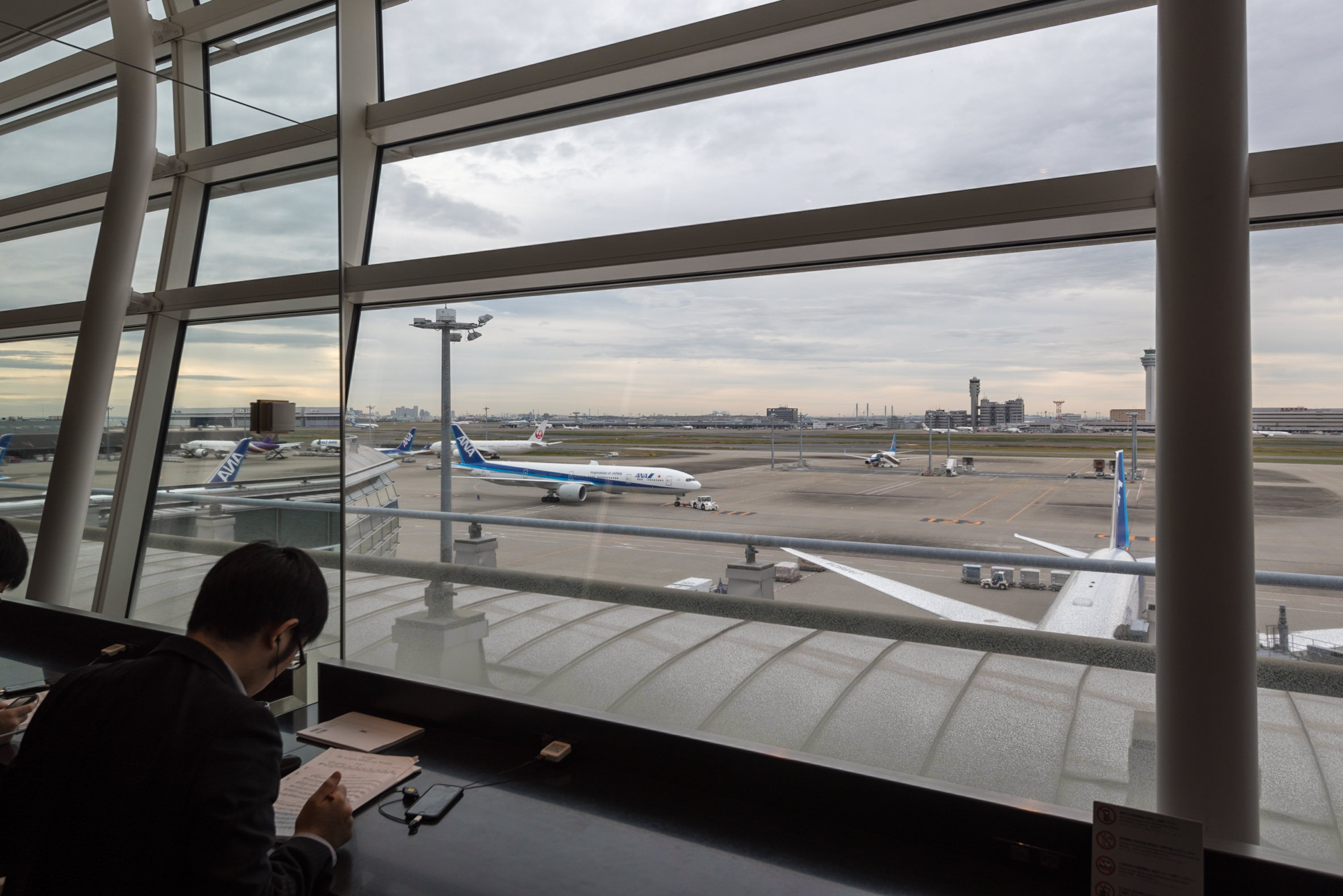 View from ANA Lounge  Haneda Airport (International Terminal)