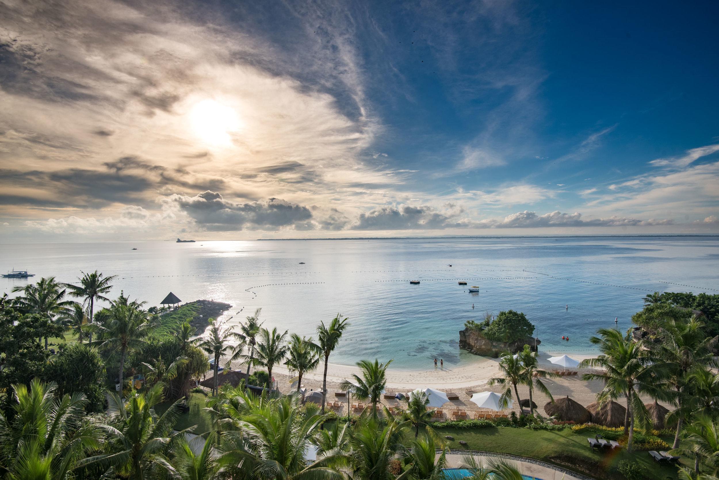 View from Balcony - Ocean Wing Panorama Room  Shangri-La's Mactan Resort and Spa, Cebu