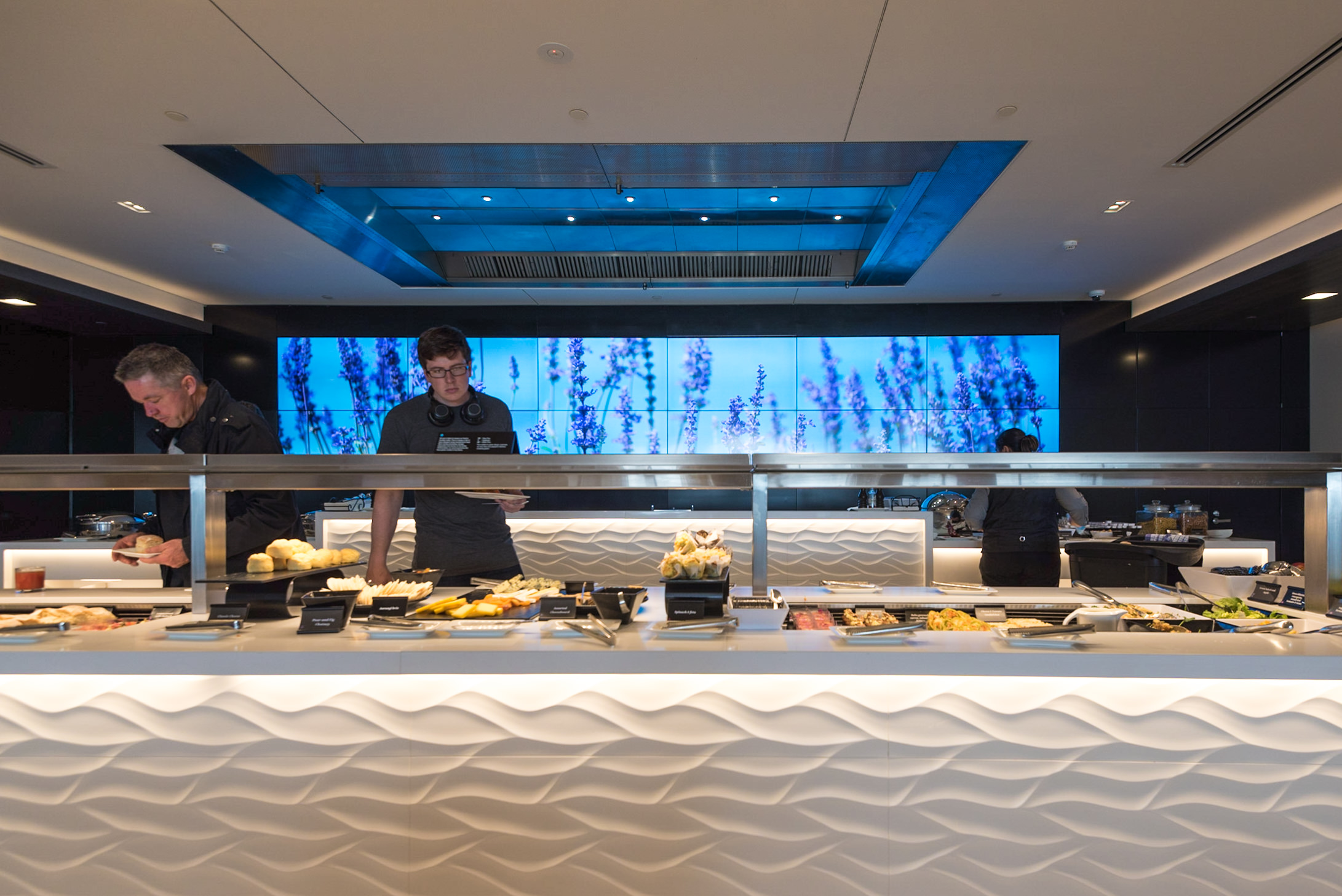 Selection of Hot and Cold Food during Breakfast  Air New Zealand Auckland International Lounge (New Zealand)