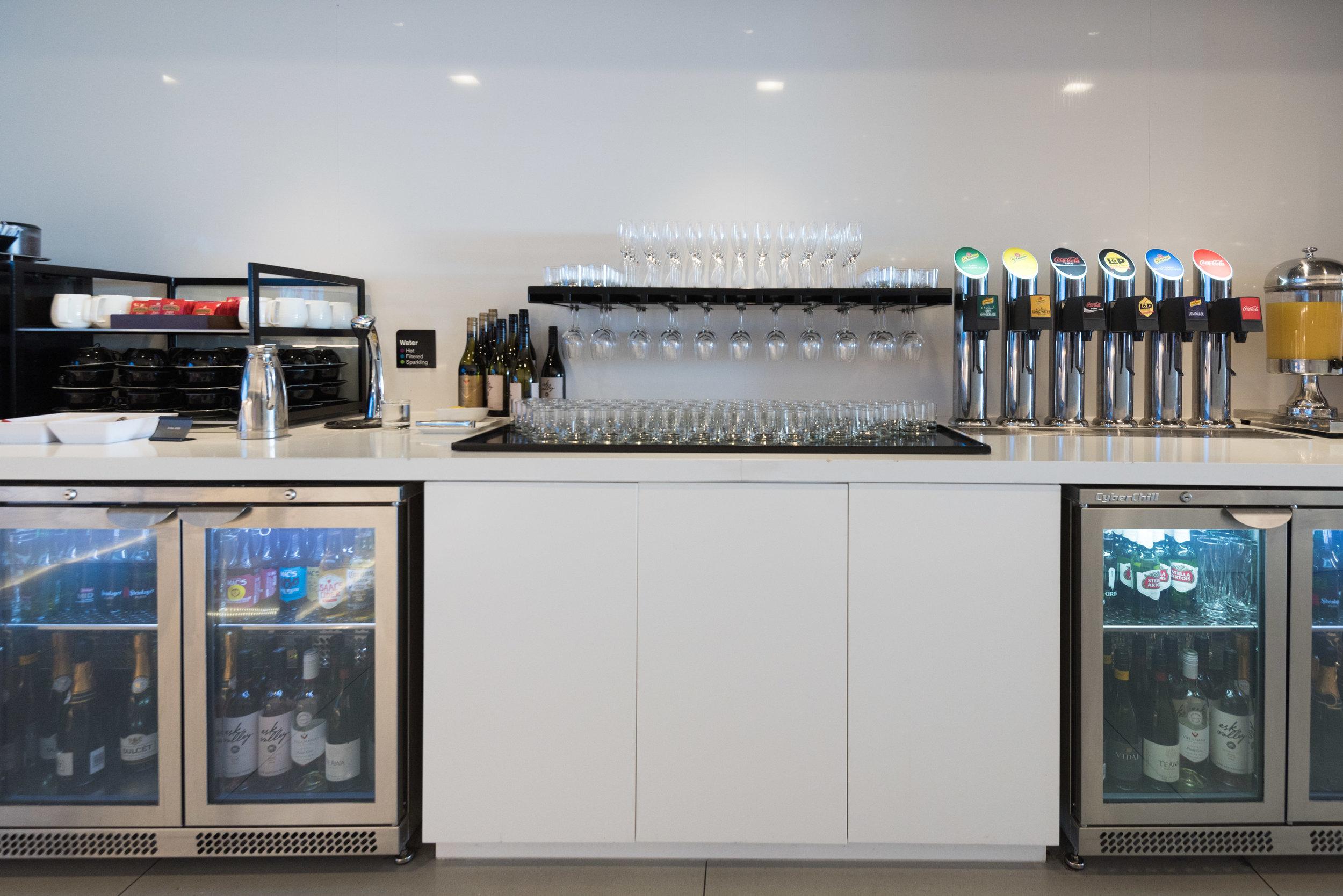 Drink Selection  Air New Zealand Auckland International Lounge (New Zealand)
