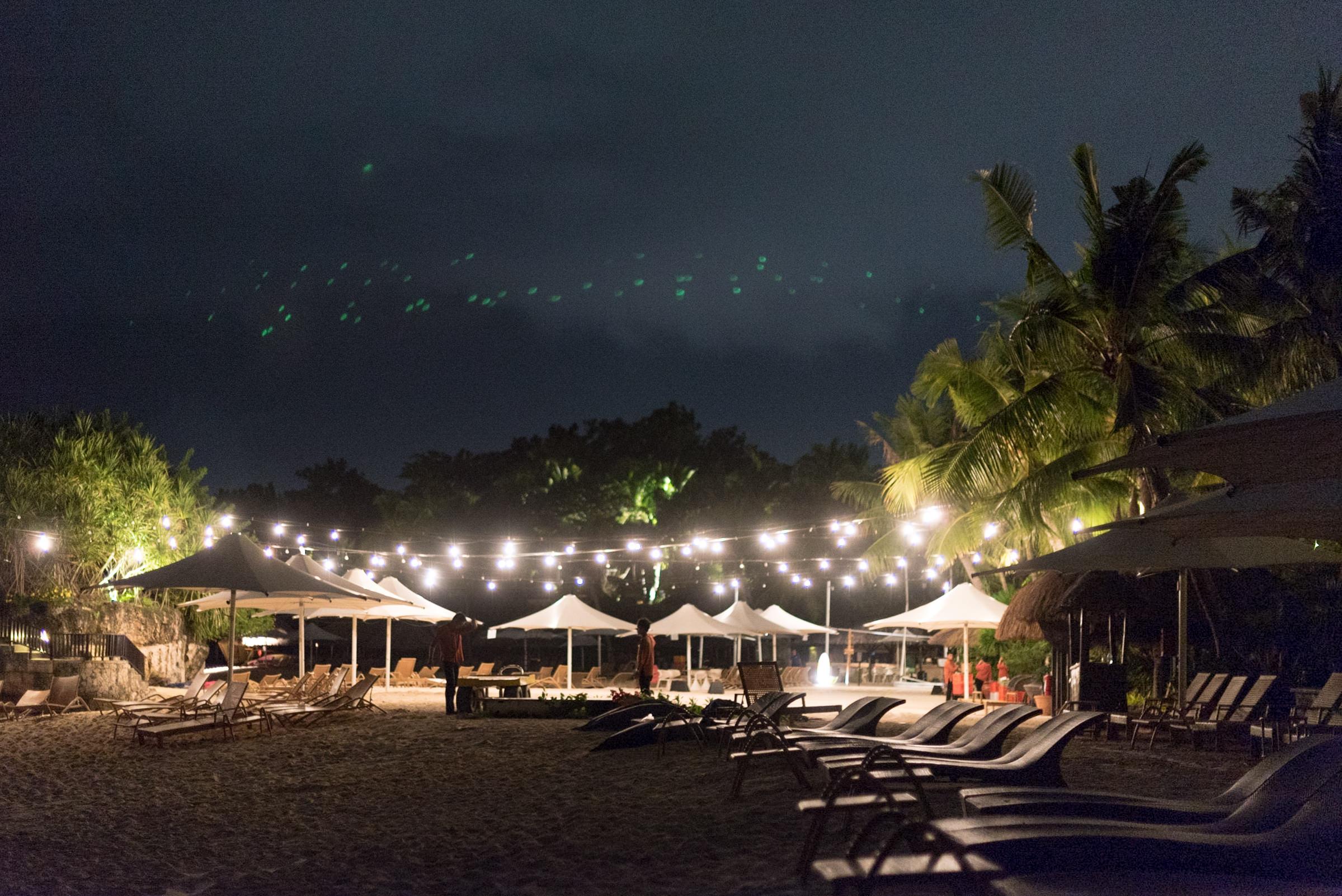 Beach at Night  Shangri-La's Mactan Resort and Spa, Cebu