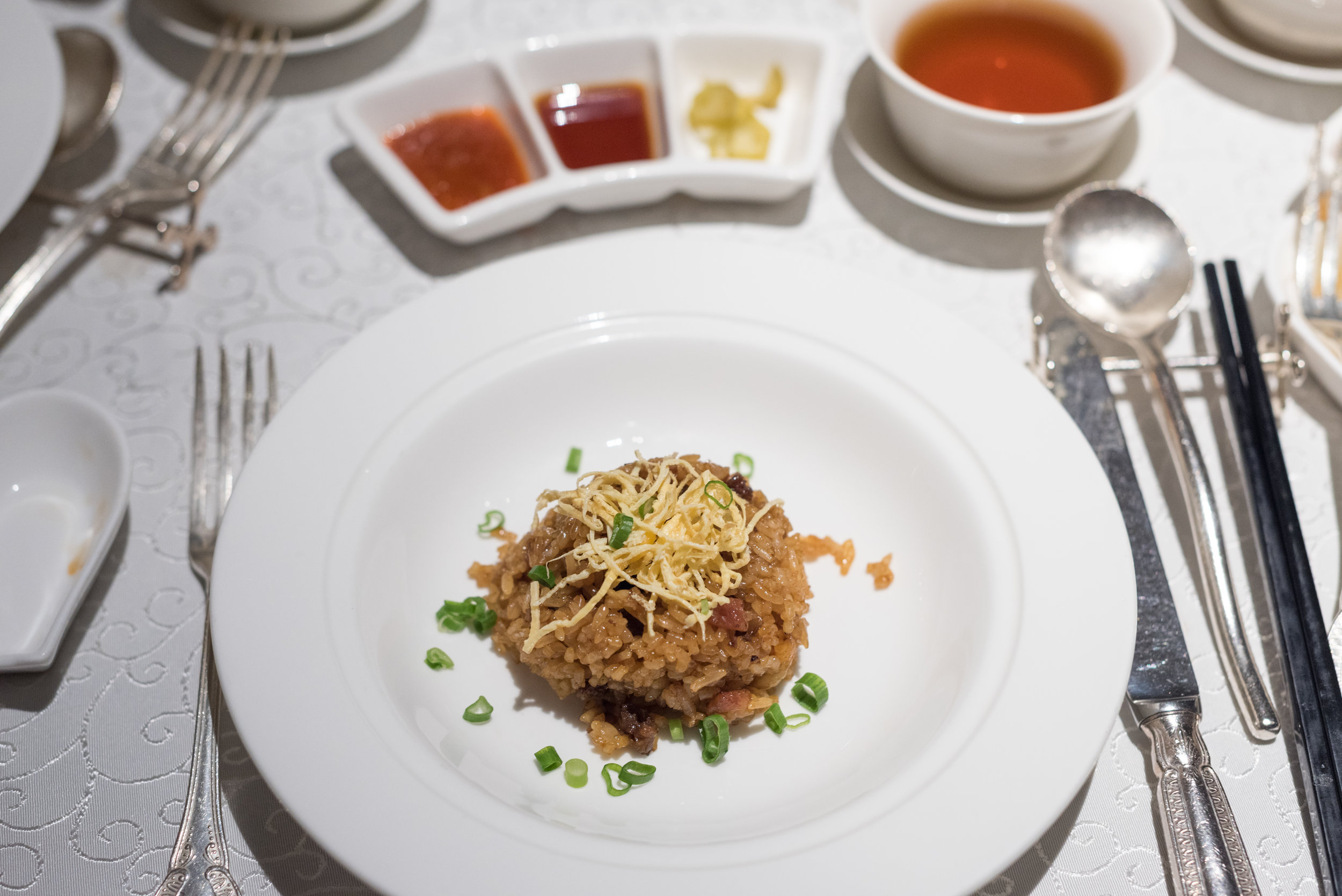 Wok-fried Glutinous Rice with Wind-dried Sausages  Yan Ting - The St. Regis Singapore