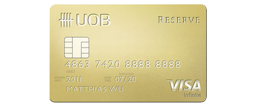 UOB Reserve Card | Photo Credit: UOB