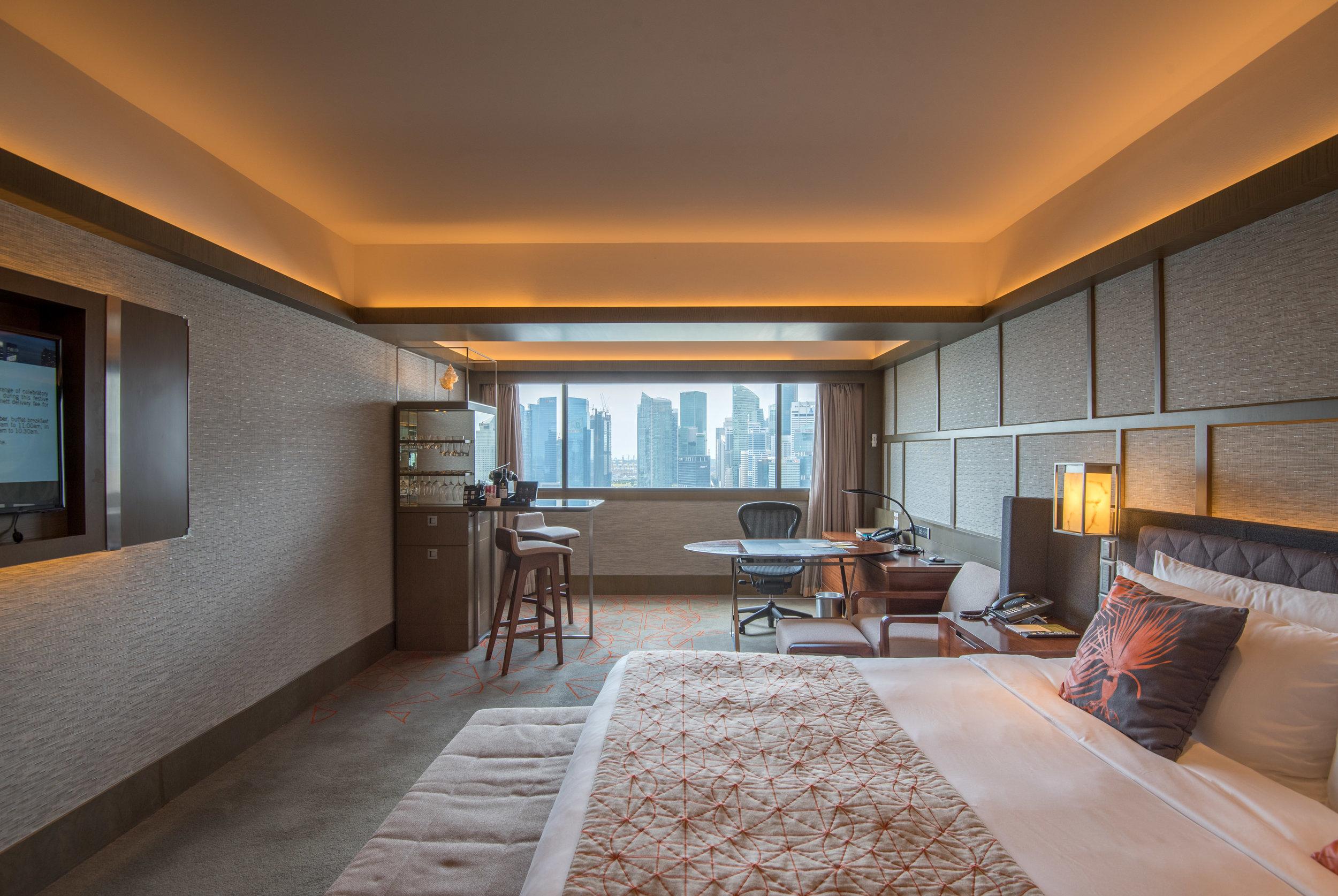 Bedroom  Harbour Studio - Pan Pacific Singapore