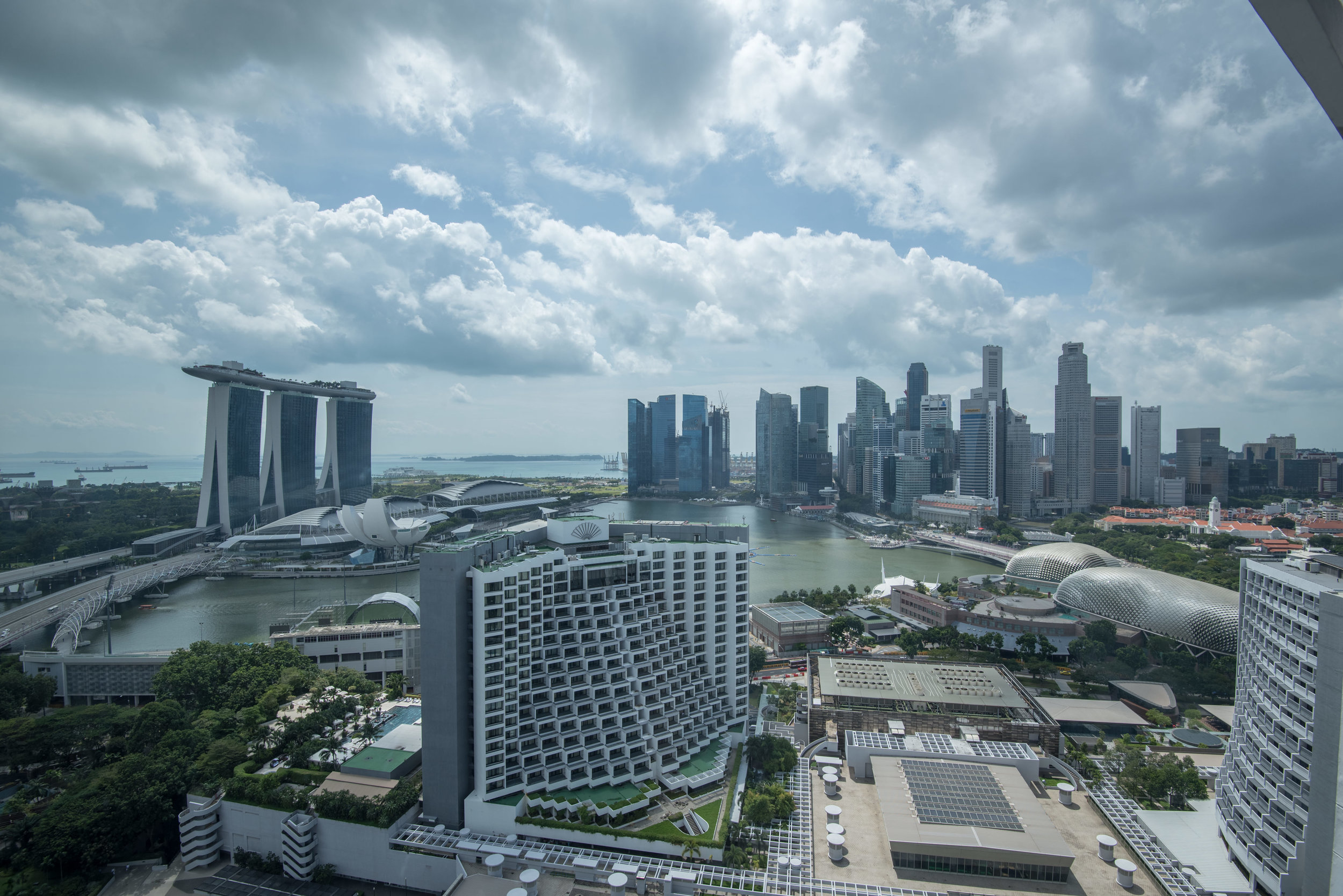 View from Bedroom  Harbour Studio - Pan Pacific Singapore