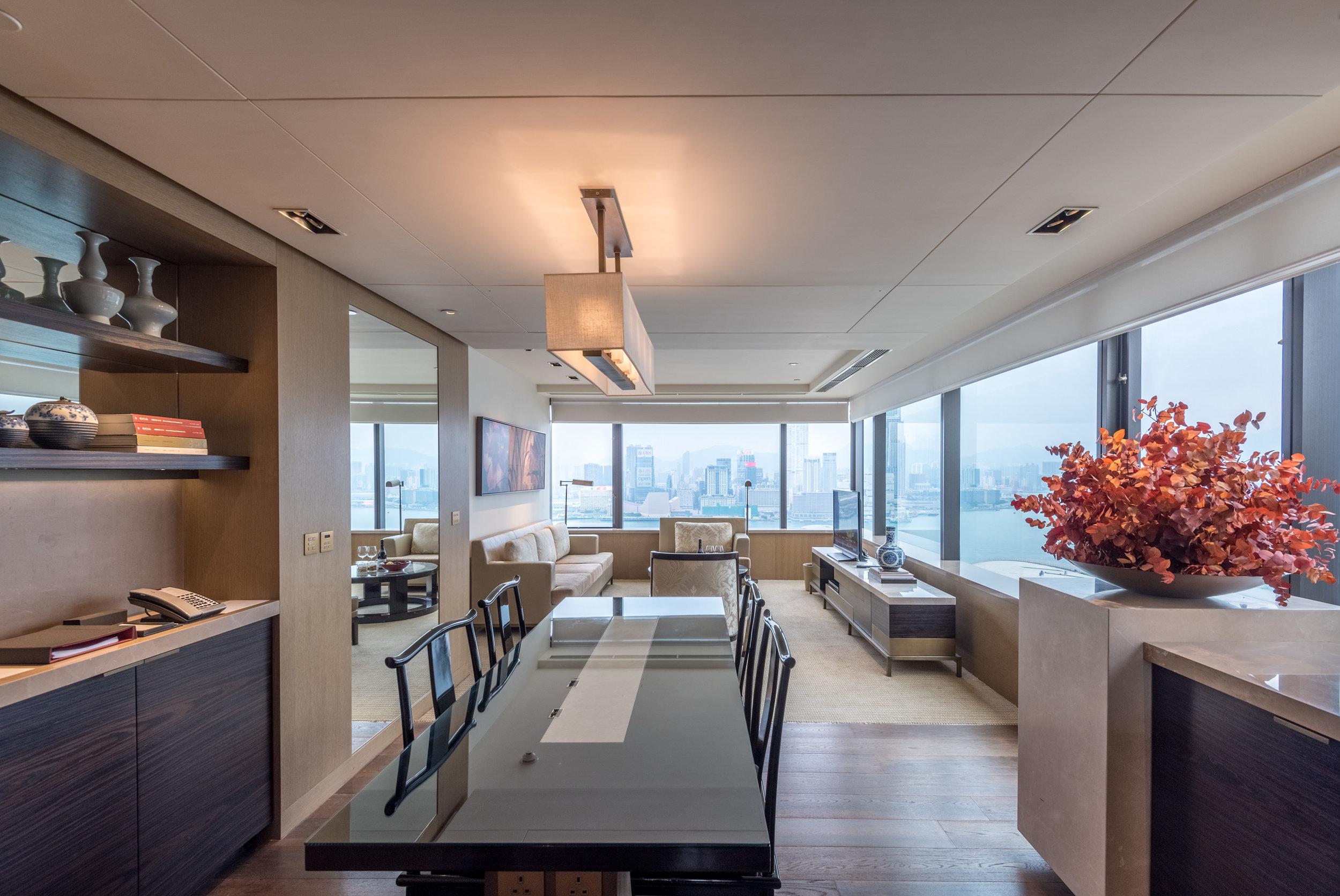 Dining Area  Victoria Harbour Suite - Grand Hyatt Hong Kong