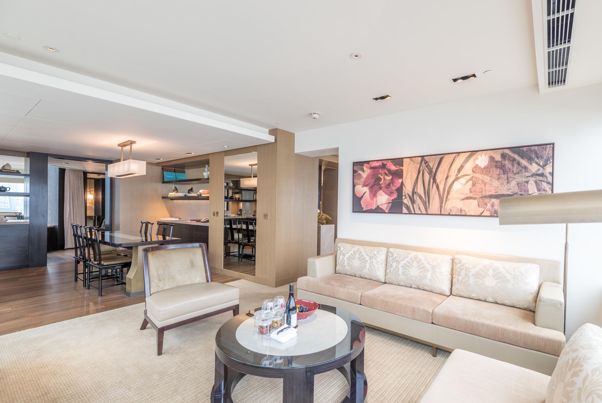 Living Room  Victoria Harbour Suite - Grand Hyatt Hong Kong