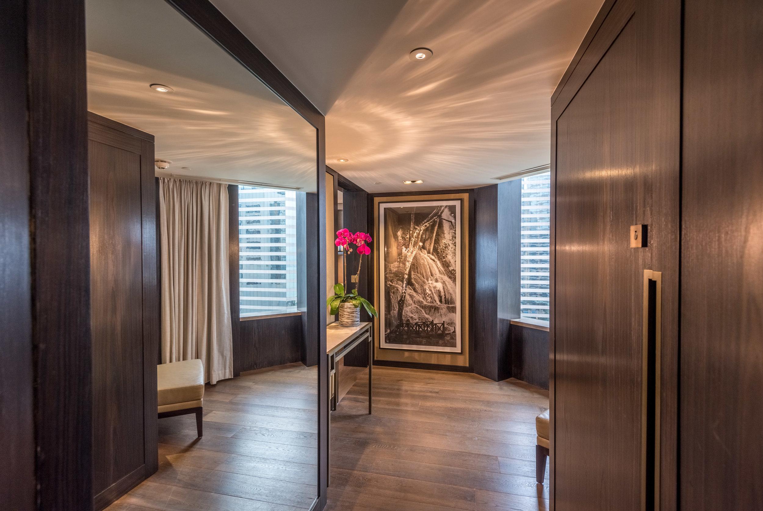 Entrance to Suite  Victoria Harbour Suite - Grand Hyatt Hong Kong