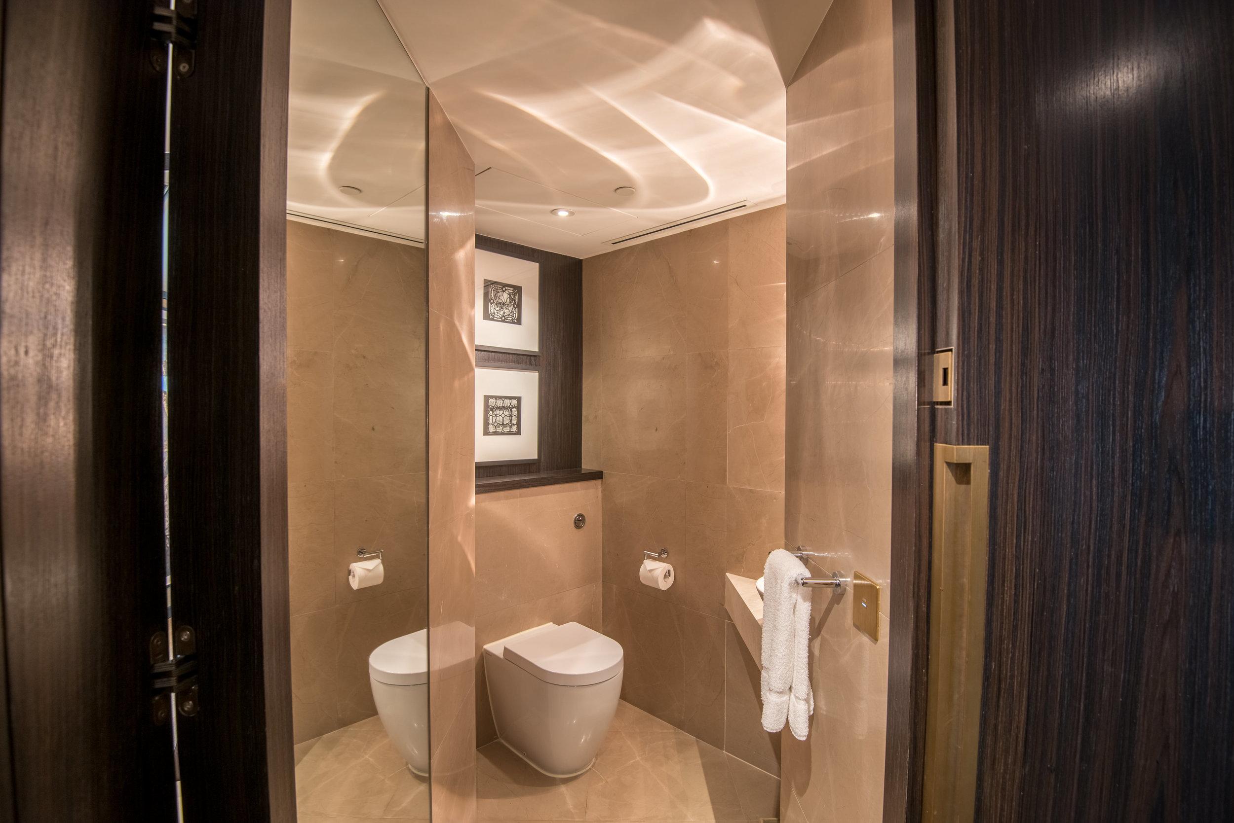 Half Bathroom  Victoria Harbour Suite - Grand Hyatt Hong Kong