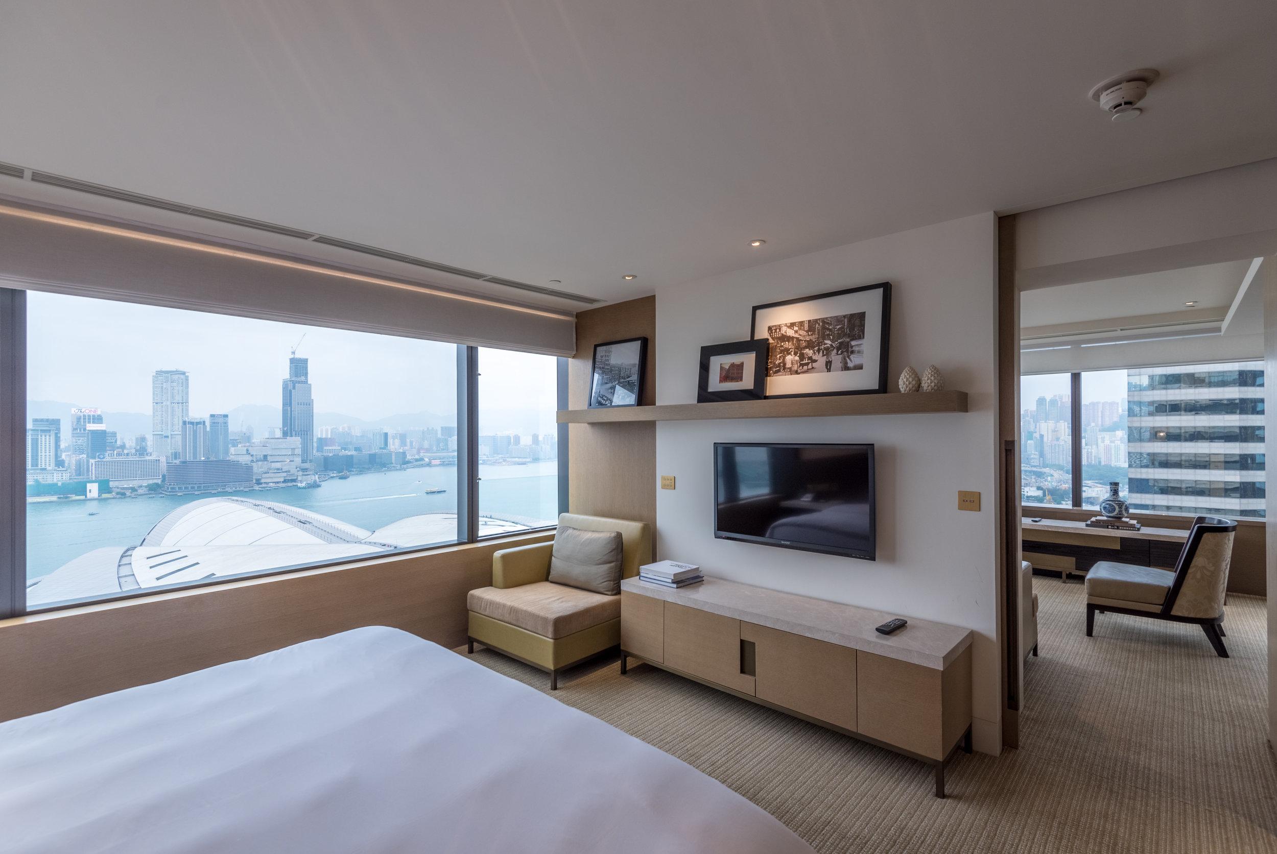 Bedroom  Victoria Harbour Suite - Grand Hyatt Hong Kong