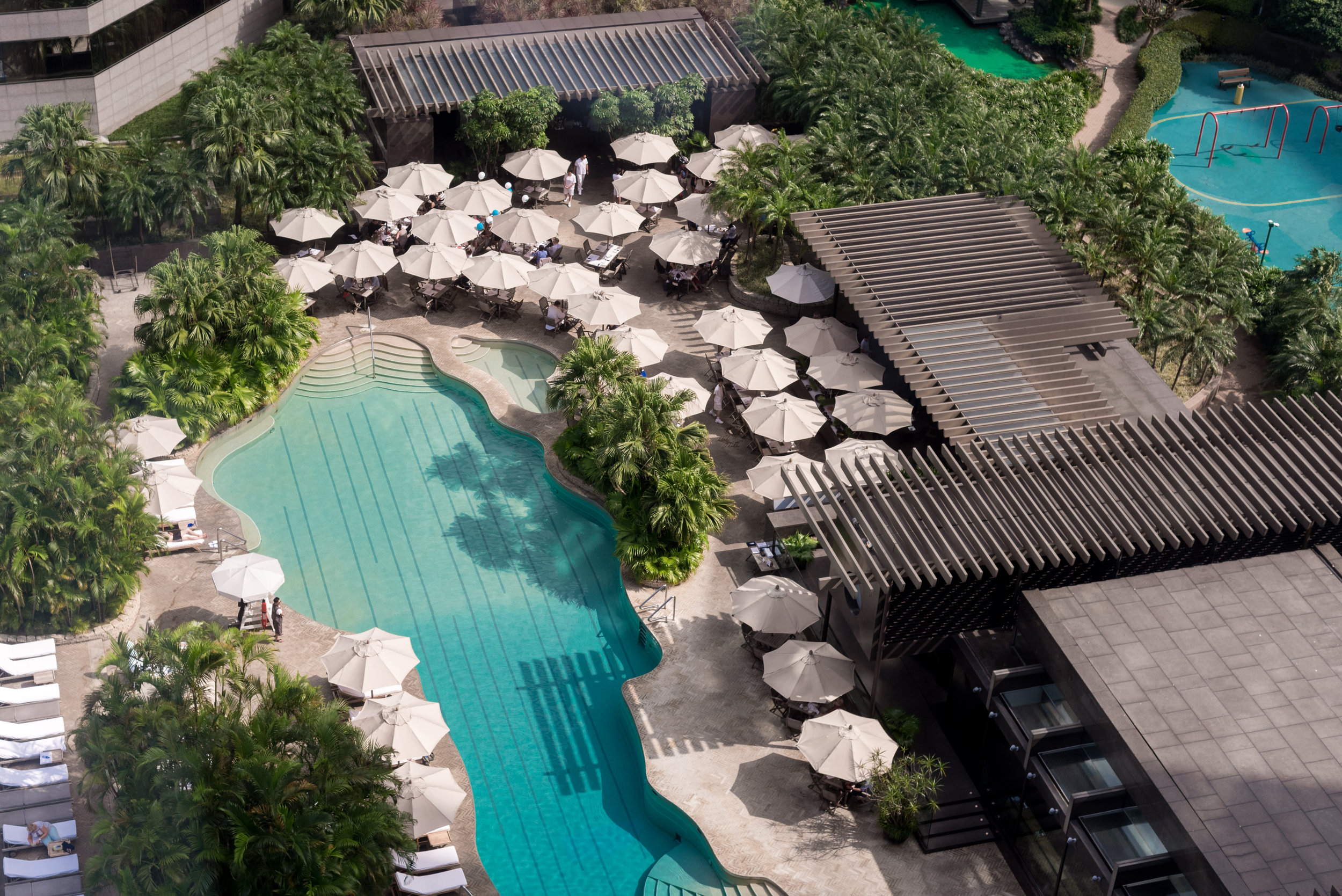 View of Swimming Pool  Victoria Harbour Suite - Grand Hyatt Hong Kong