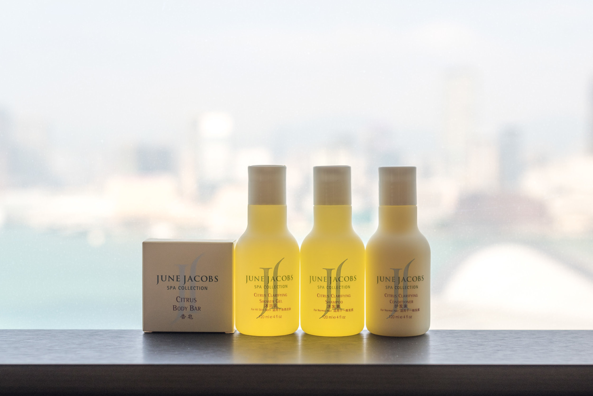 Bath Amenities by June Jacobs Spa Collection  Victoria Harbour Suite - Grand Hyatt Hong Kong