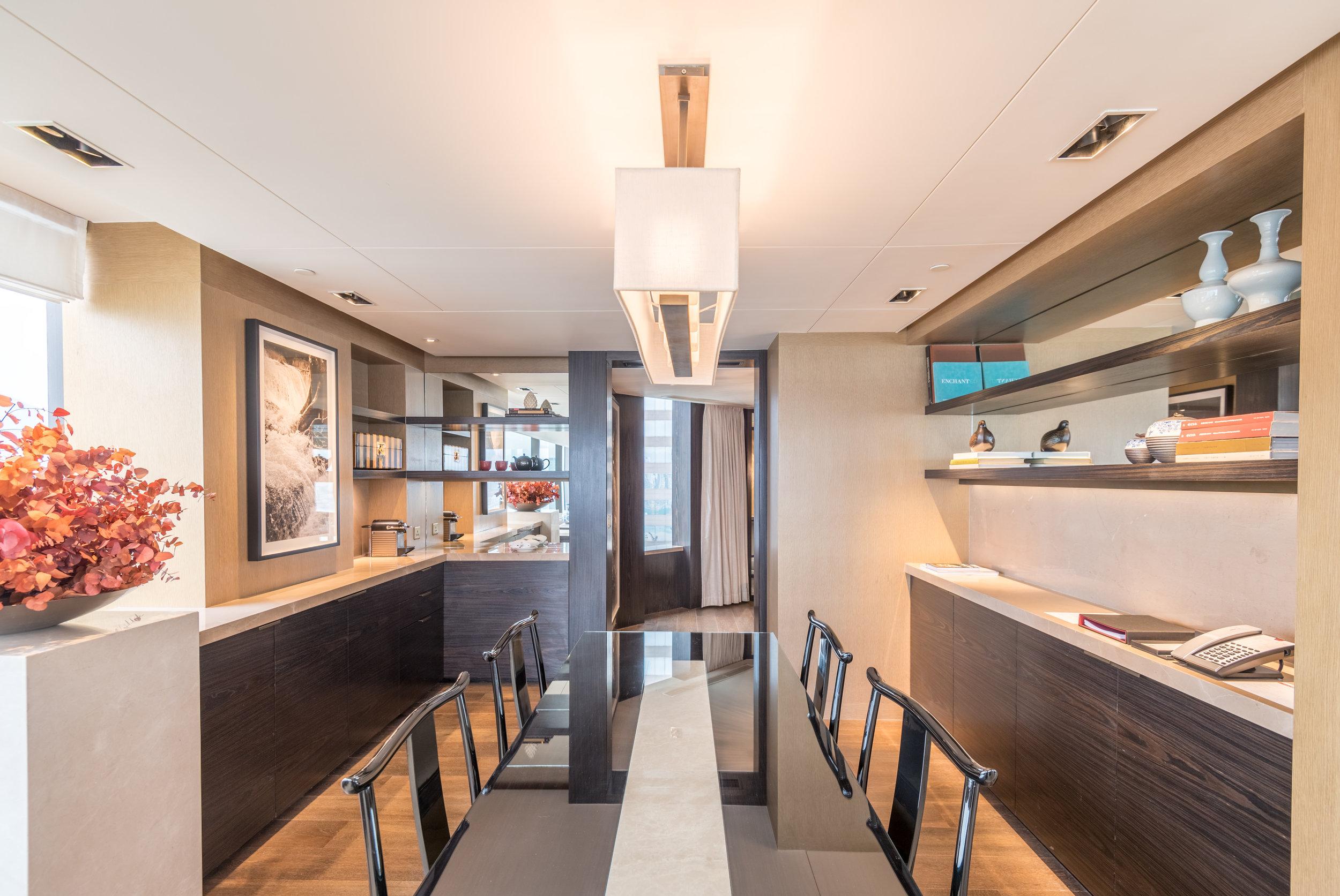 Dining Room  Victoria Harbour Suite - Grand Hyatt Hong Kong