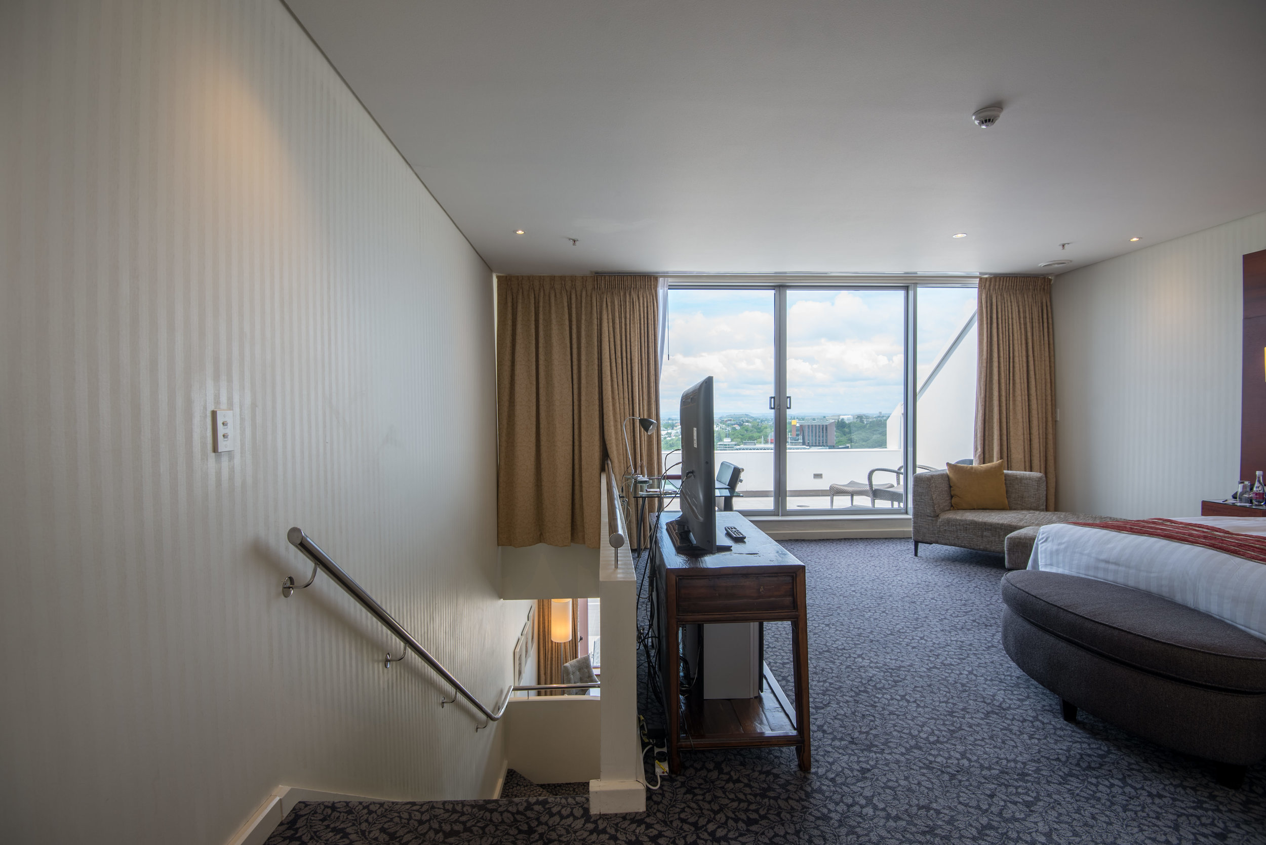 Stairs to Bedroom and Bathroom (Upper Level)  Executive Suite - Crowne Plaza Auckland