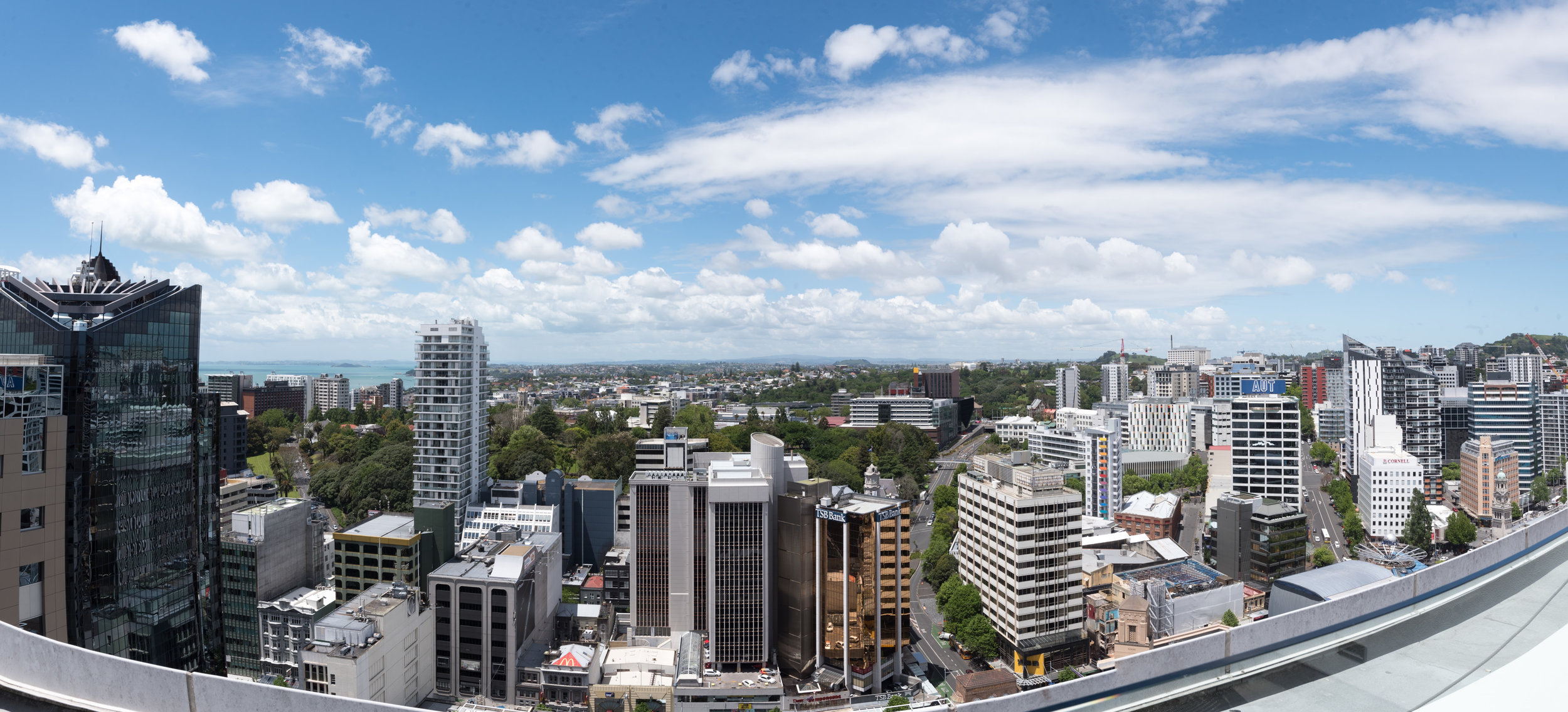 View from Balcony (Upper Level)  Executive Suite - Crowne Plaza Auckland
