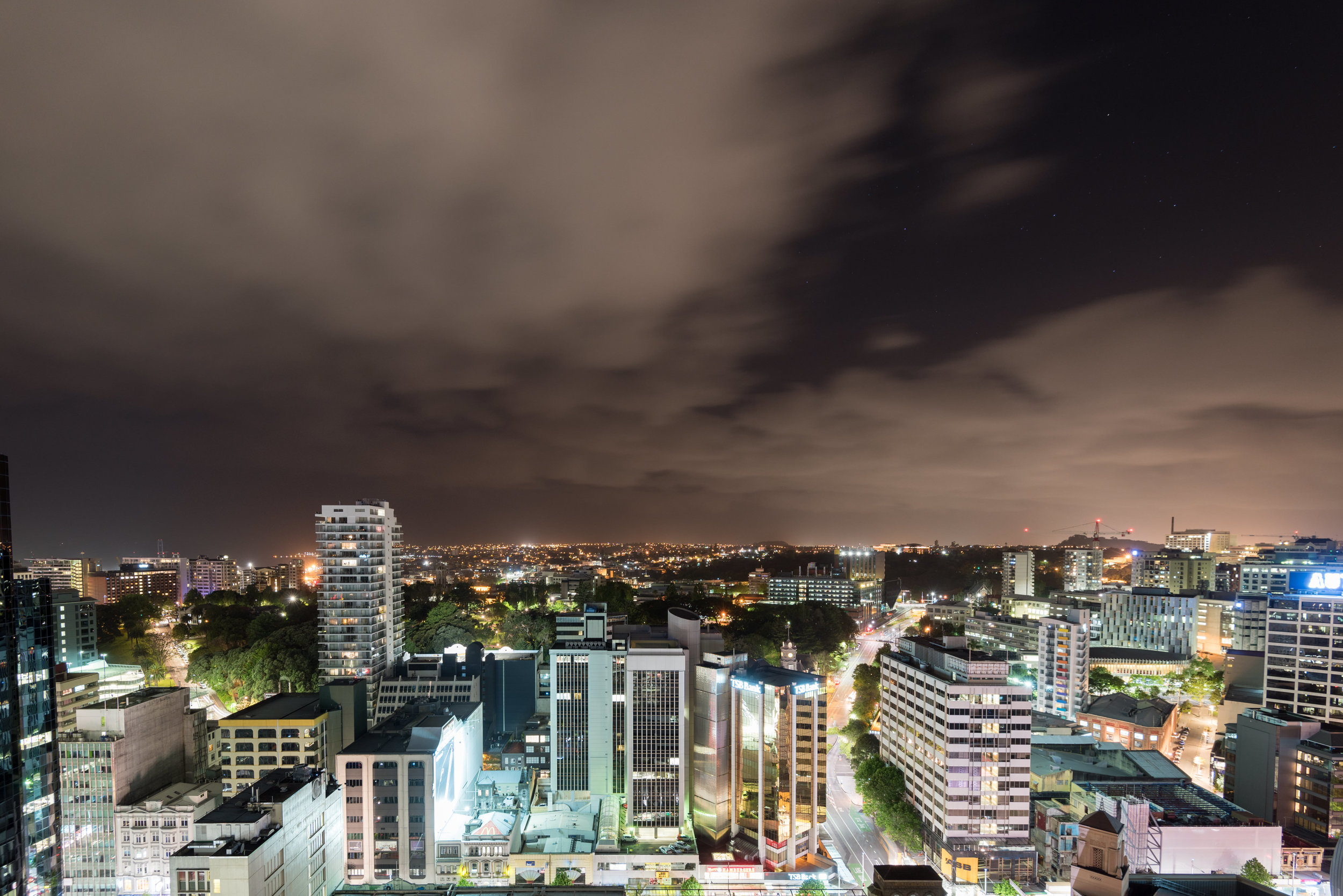 Night View from Balcony  Executive Suite - Crowne Plaza Auckland