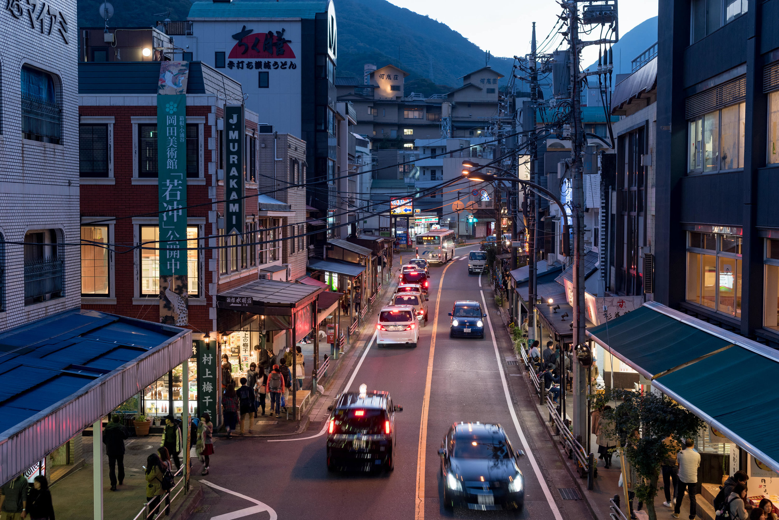 Hakone-Yumoto Station in the Evening  Travel Guide for Day-trip to Hakone from Tokyo