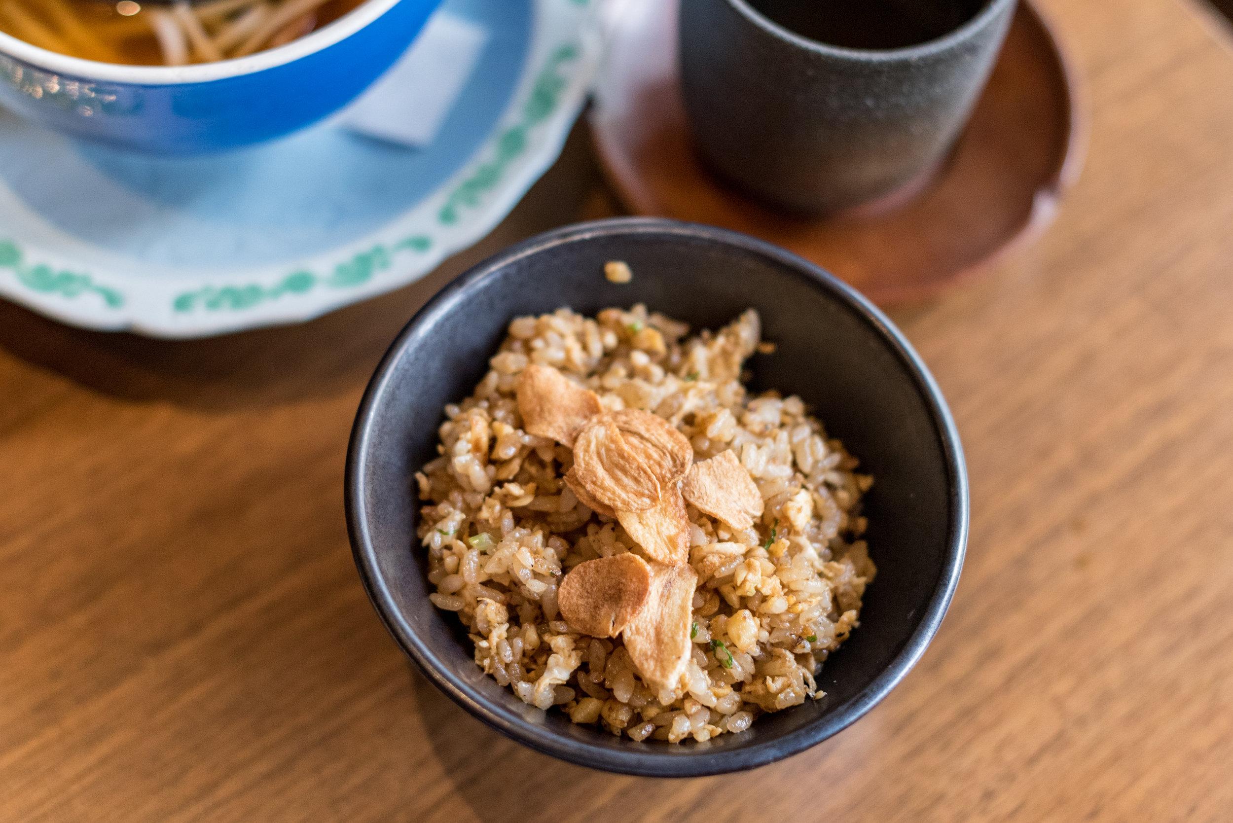 Garlic Fried Rice - Bubbly Brunch Keyaki - Pan Pacific Singapore
