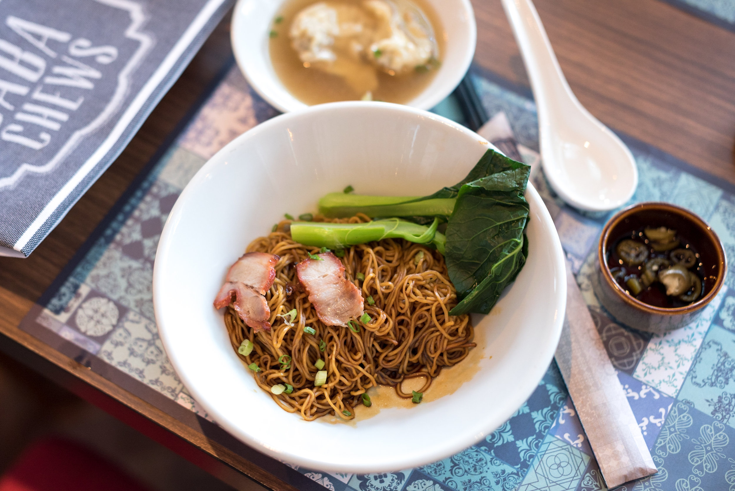Wanton Noodles - Breakfast  Baba Chews - Hotel Indigo Singapore Katong