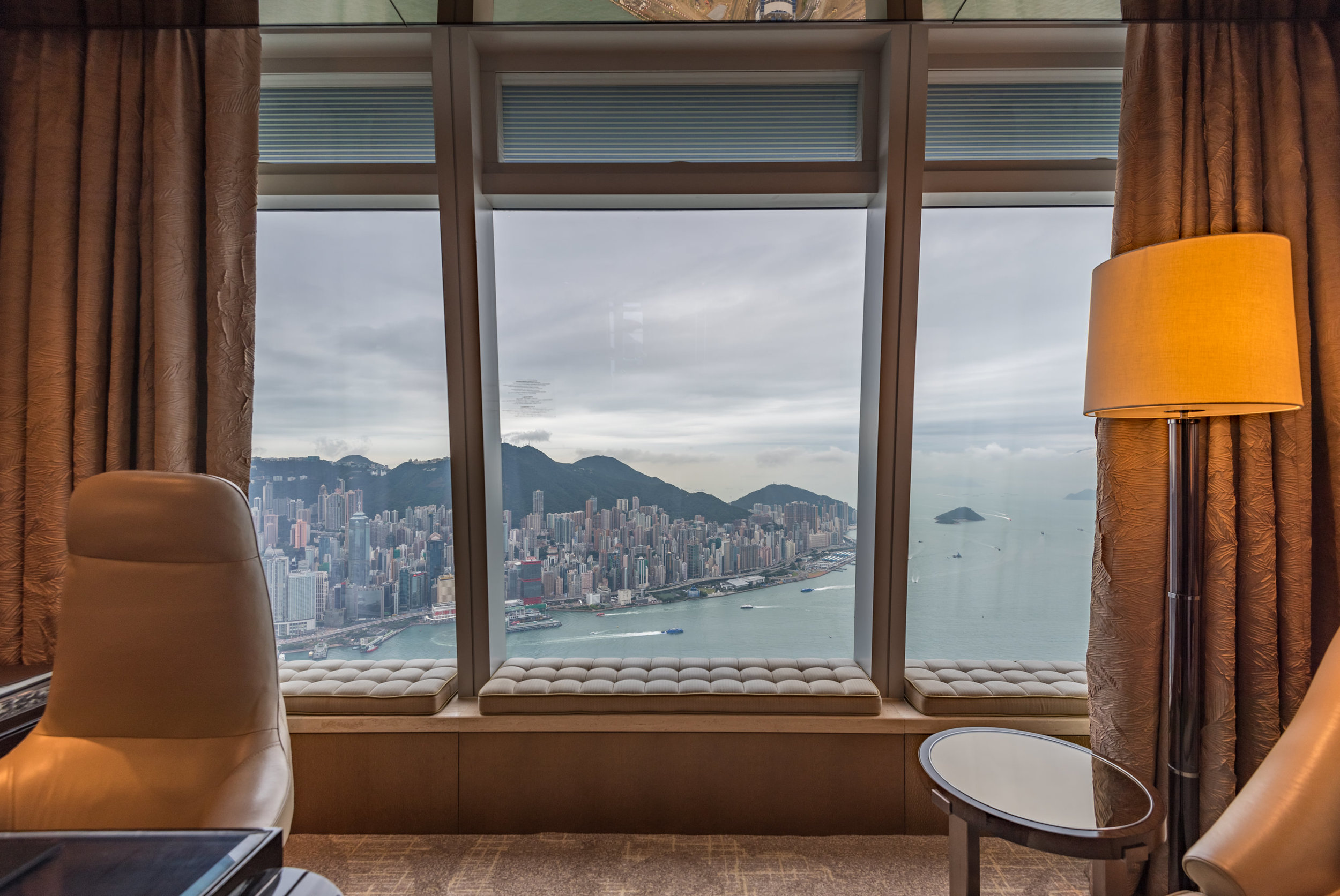 View from the Room  Club Deluxe Victoria Harbour Room - The Ritz-Carlton, Hong Kong