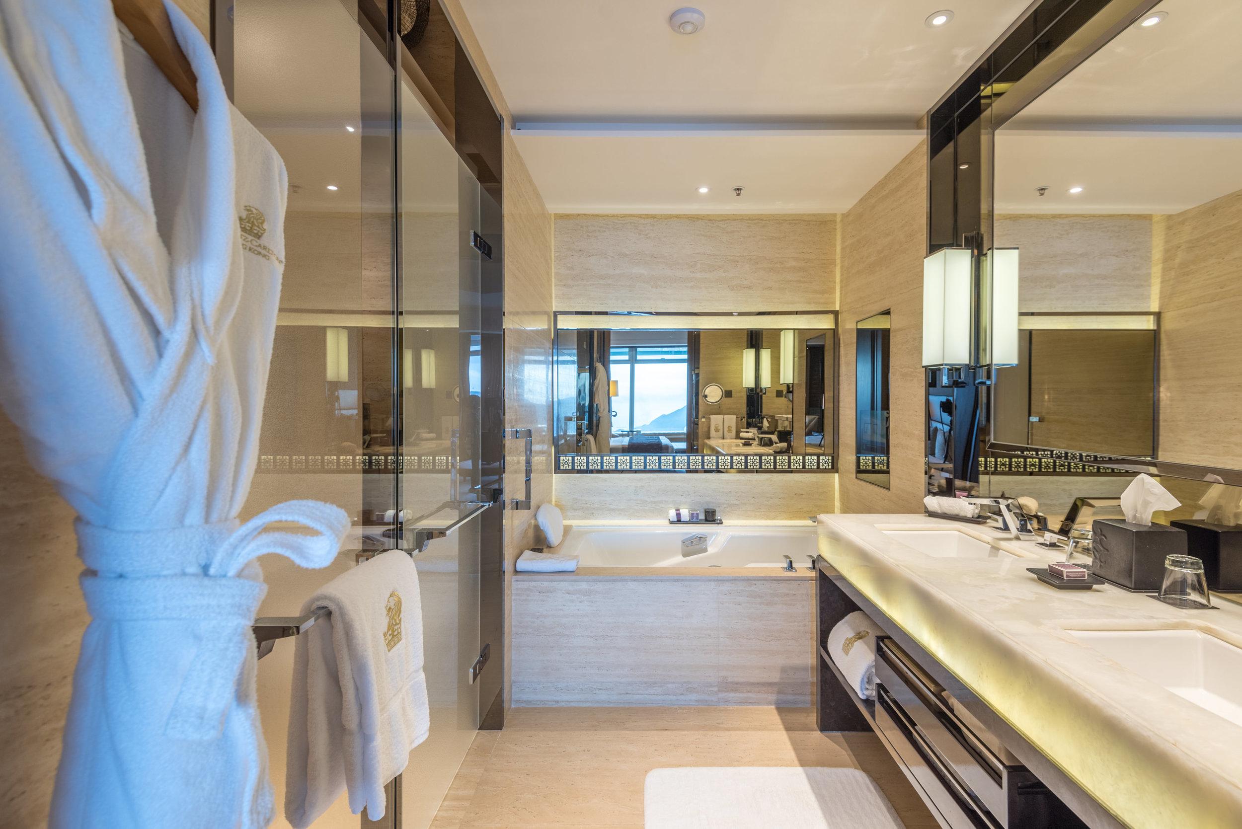 Bathroom with Bathtub  Club Deluxe Victoria Harbour Room - The Ritz-Carlton, Hong Kong