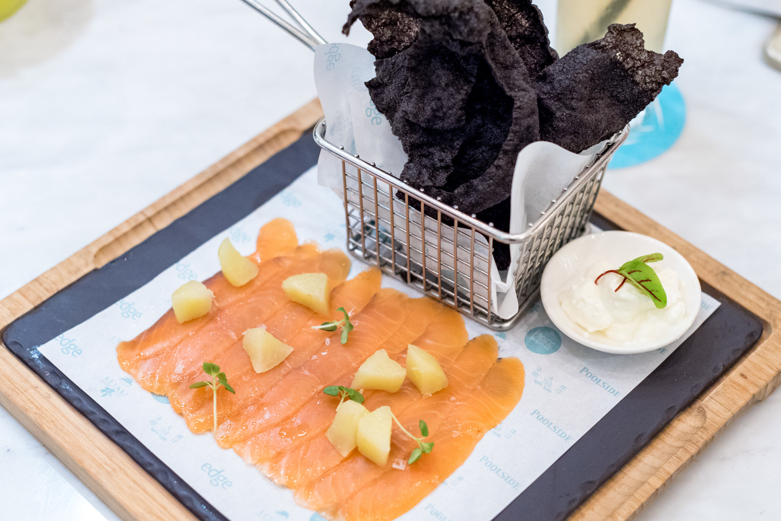 House Cured Ocean Trout (S$16++)  Pacific Marketplace - Pan Pacific Singapore