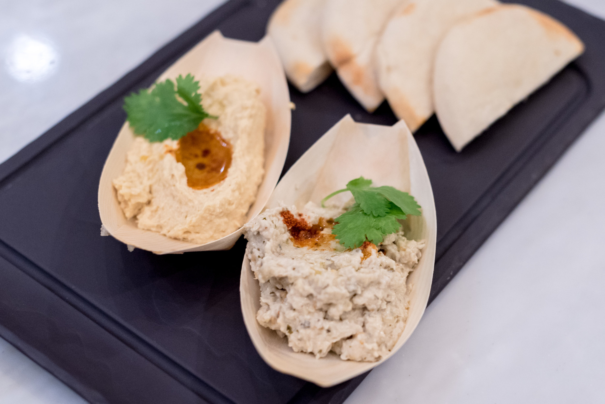 Hummus and Baba Ganoush (S$12++)  Pacific Marketplace - Pan Pacific Singapore