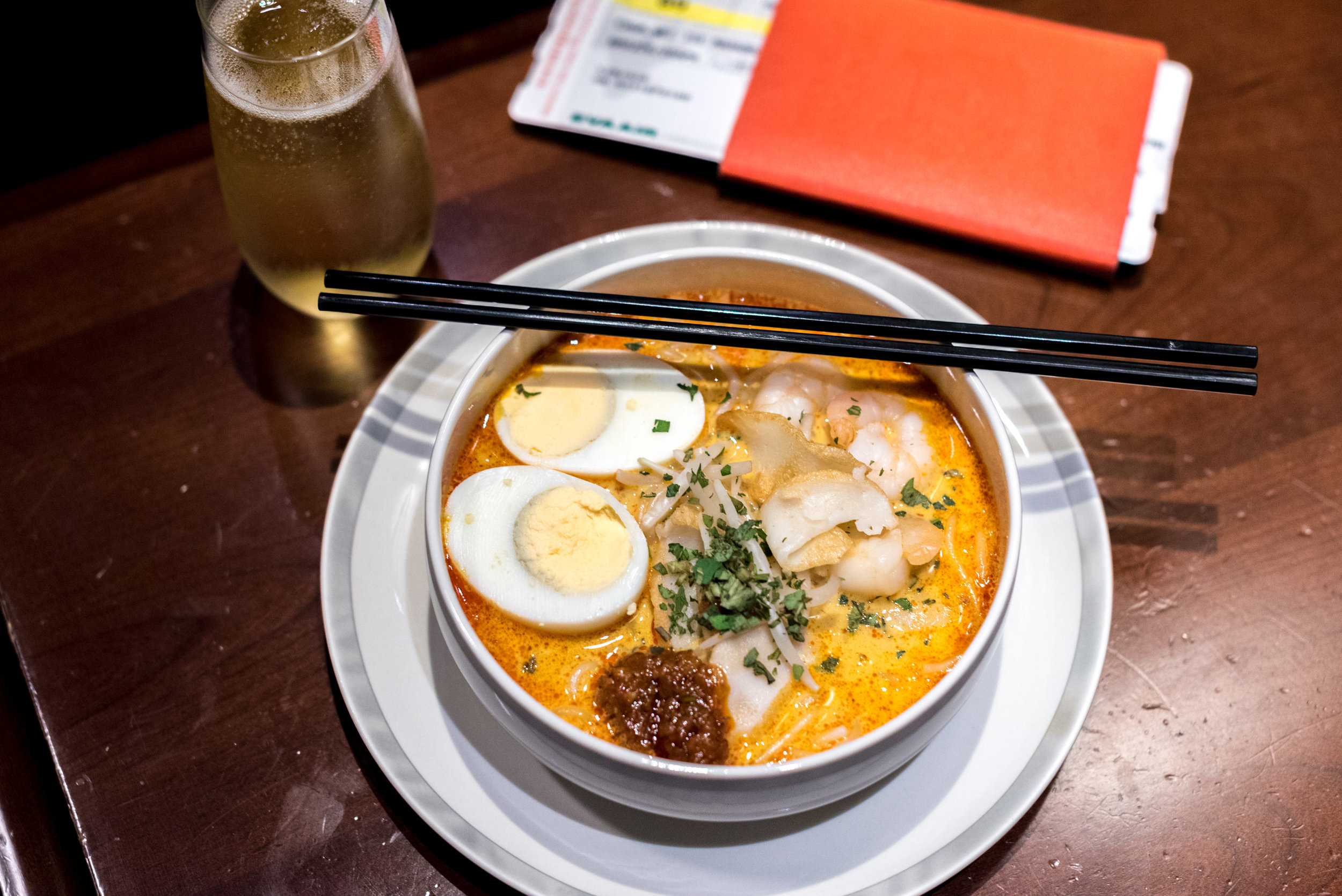Laksa and Champagne  SilverKris Business Lounge (Terminal 3) - Singapore Changi Airport