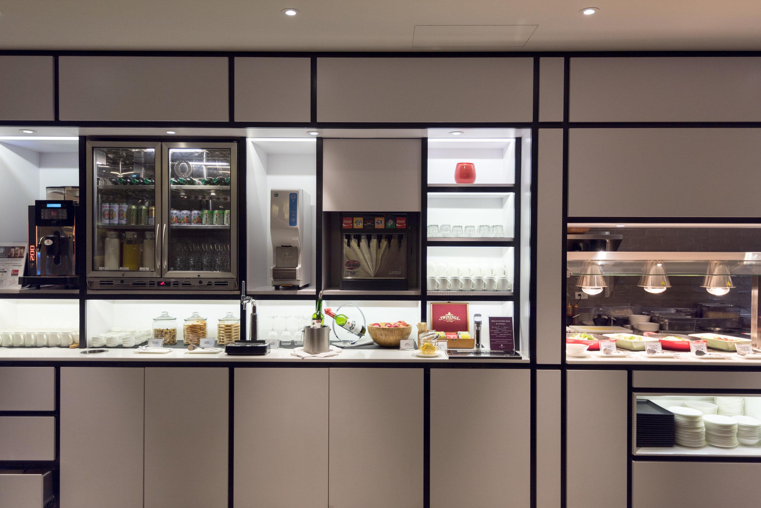 Food and Drink Selection  Plaza Premium Lounge (Terminal 1 Zone D) - Taipei Taoyuan International Airport
