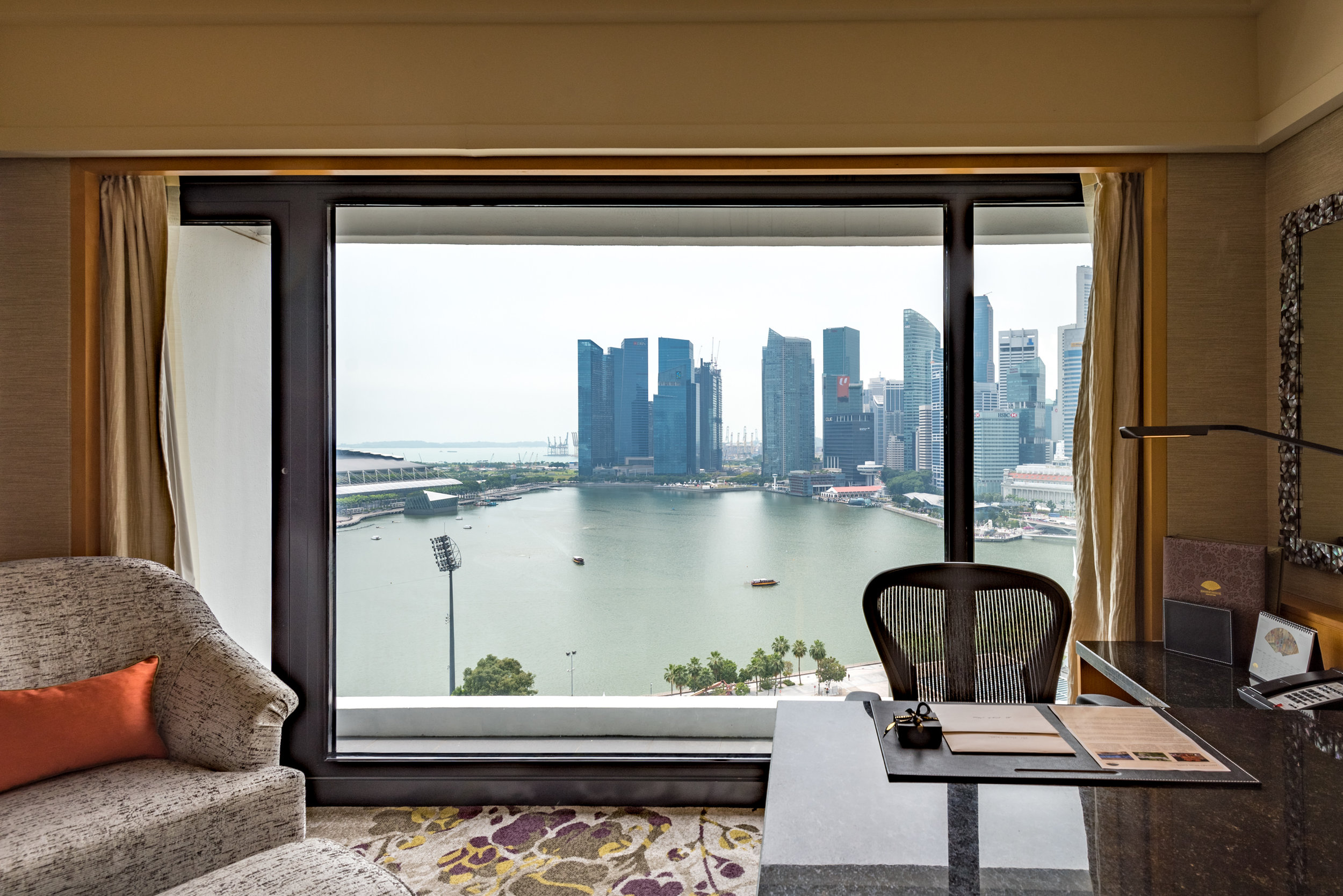 View from the Bedroom  Club Marina Bay Room - Mandarin Oriental, Singapore