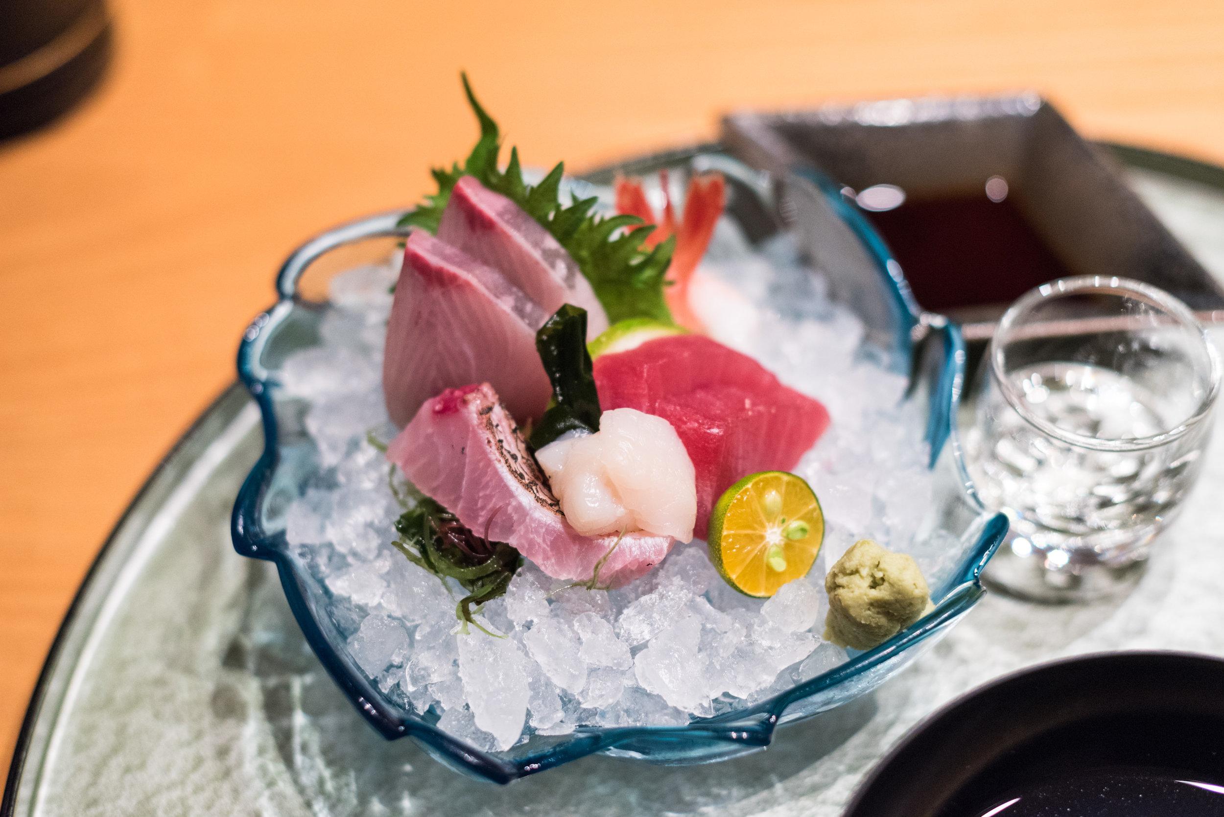 Five Types of Sashimi  ibuki by Takagi Kazuo - Shangri-La's Far Eastern Plaza Hotel, Taipei