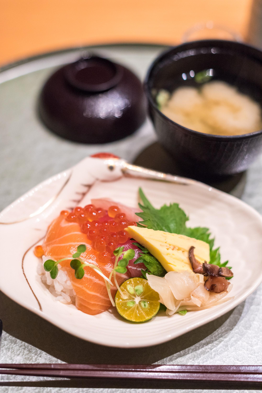 Sashimi over Sushi Rice and Miso Soup  ibuki by Takagi Kazuo - Shangri-La's Far Eastern Plaza Hotel, Taipei