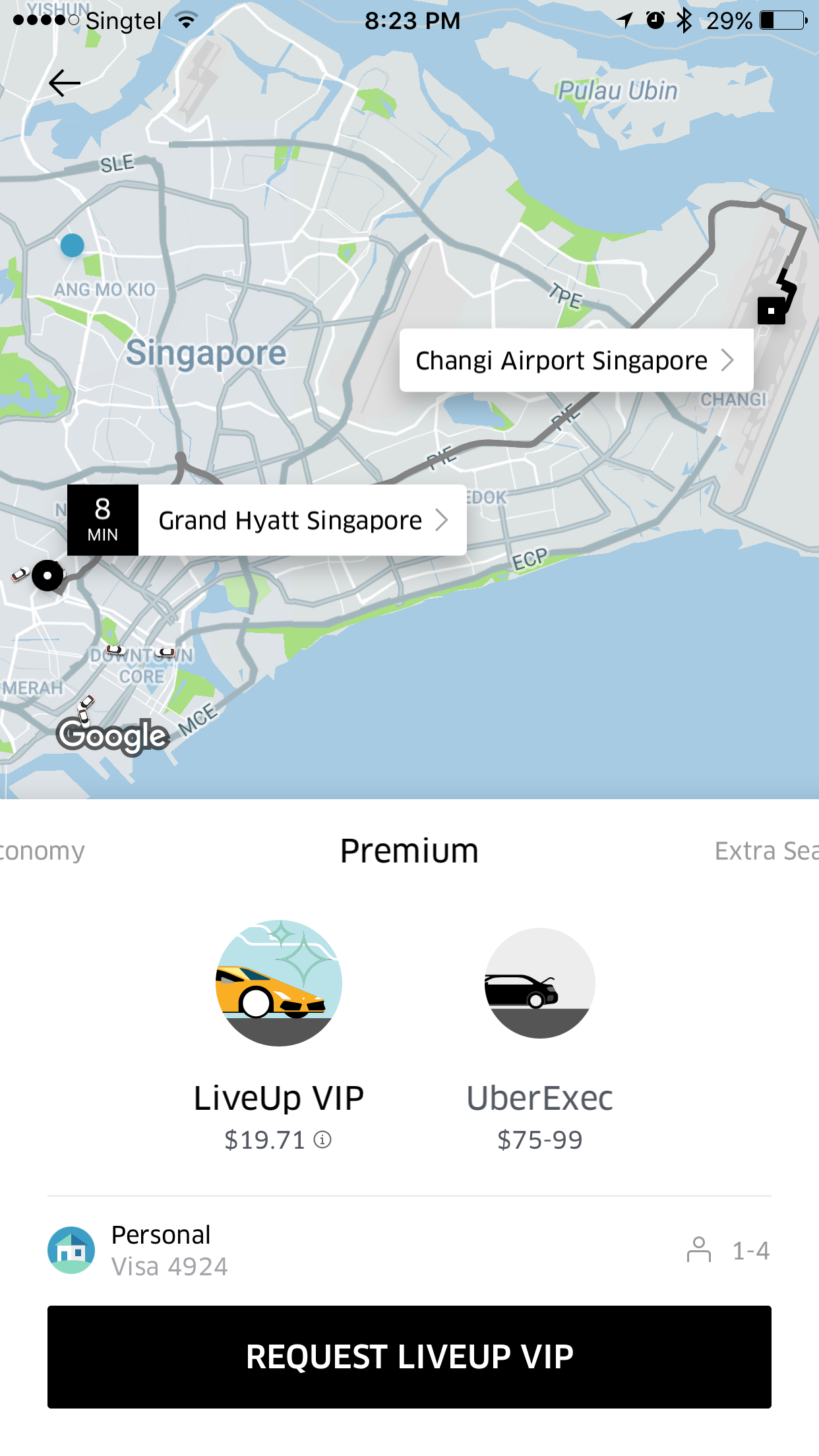 Uber VIP in Singapore