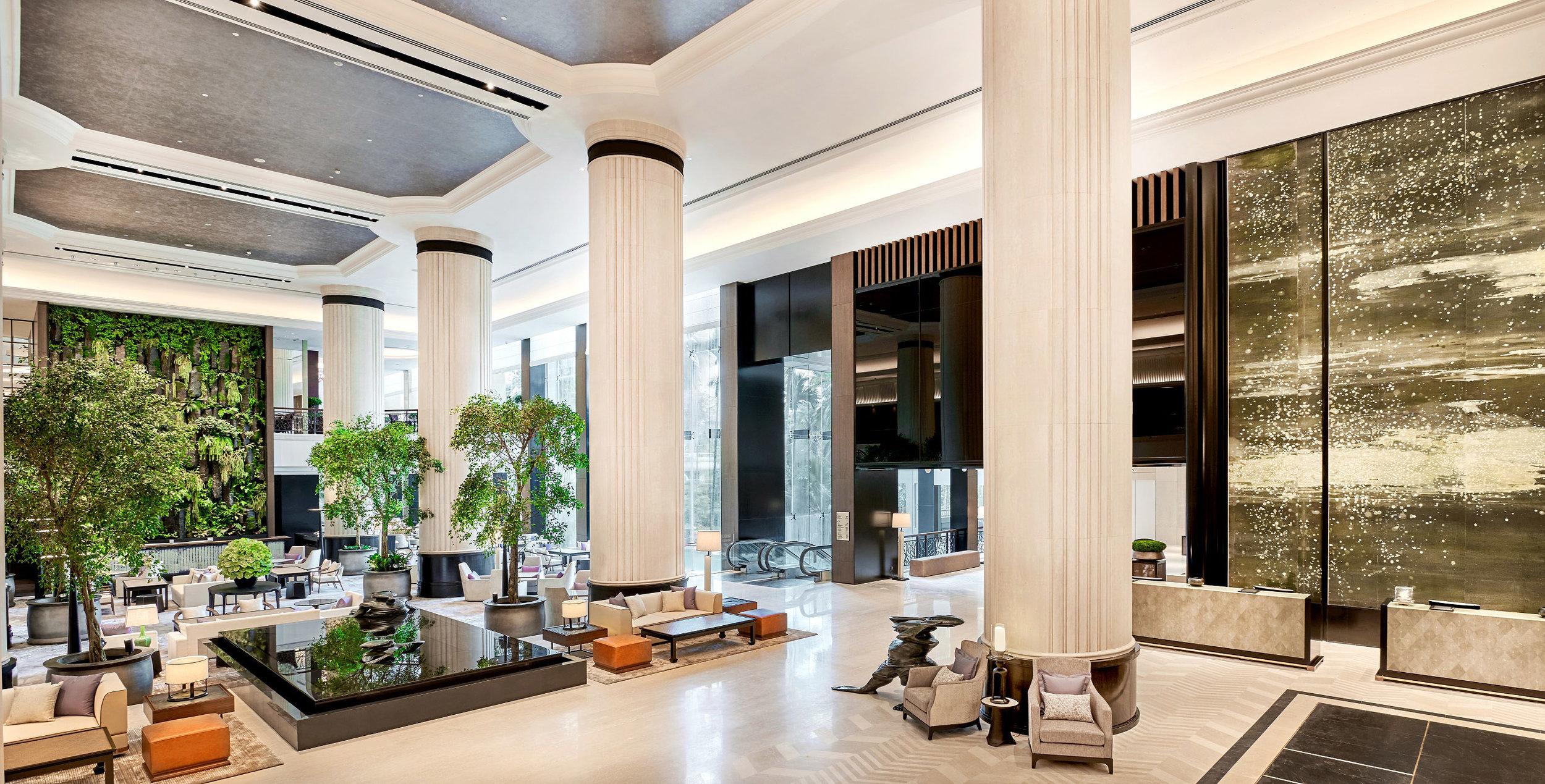 Refurbished Lobby   Photo Credit: Shangri-La Hotel, Singapore