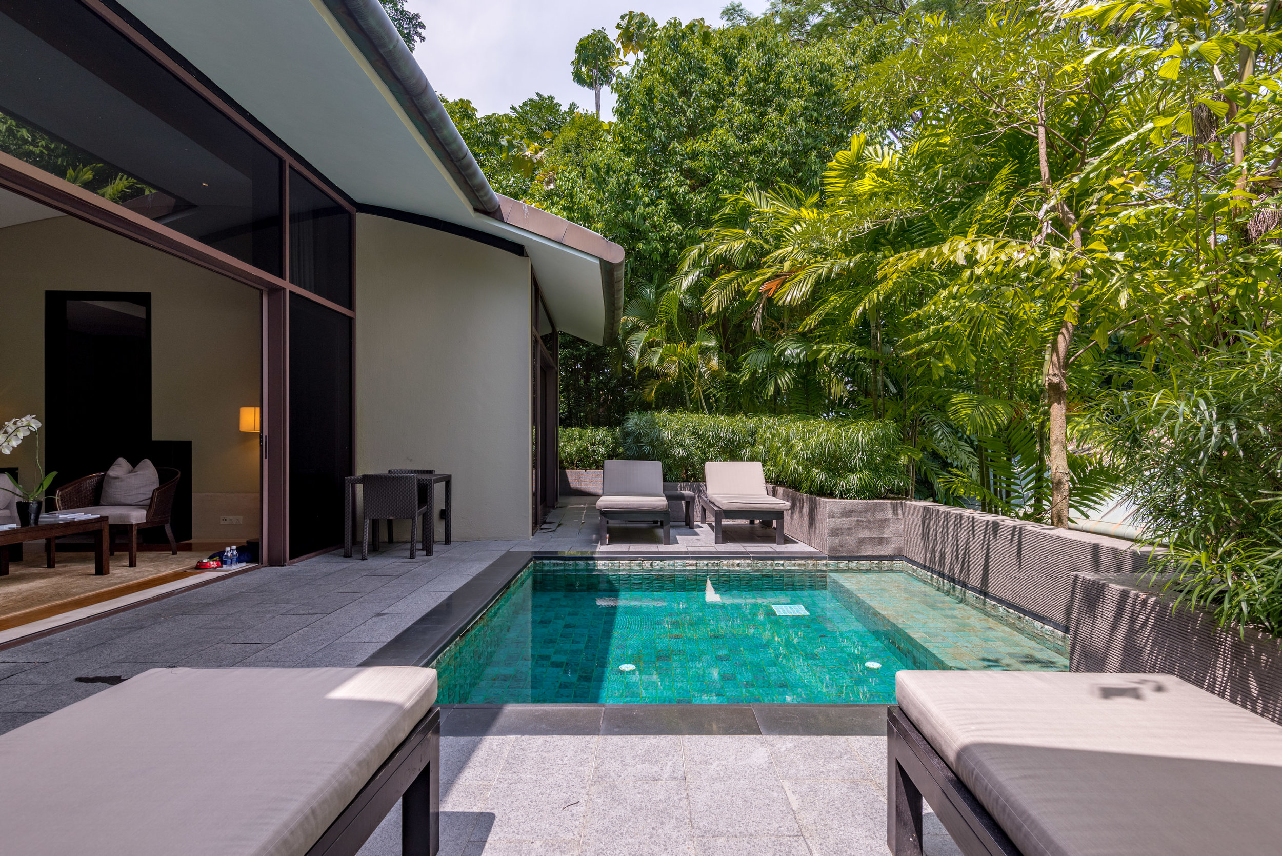 Private Plunge Pool  Two-Bedroom Garden Villa - Capella Singapore