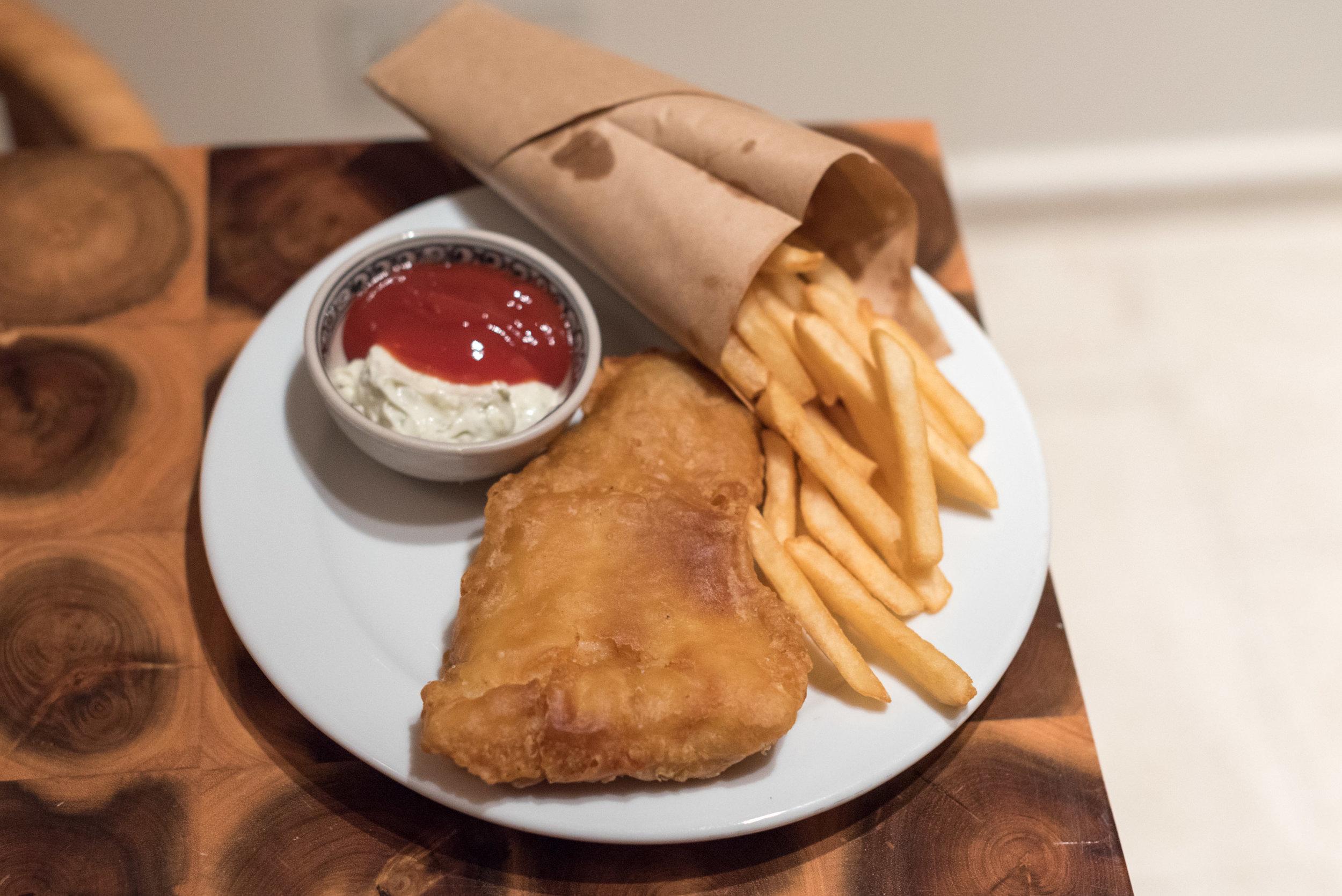 Fish and Chips (Room Service)  Regency Suite - Hyatt Regency Danang Resort and Spa