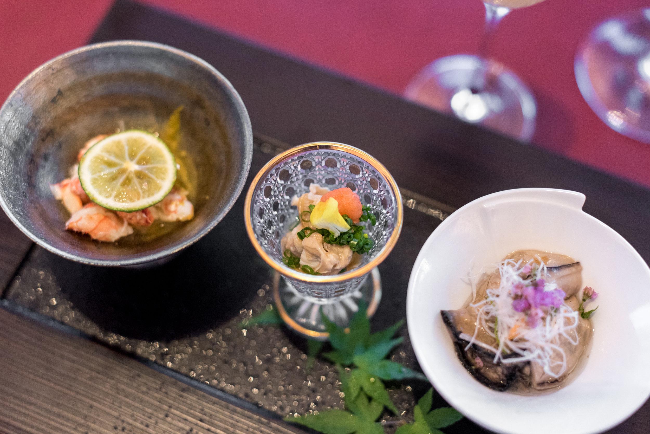 Appetiser - Assorted Seasonal Delicacies  NAMI - Shangri-La Hotel, Singapore
