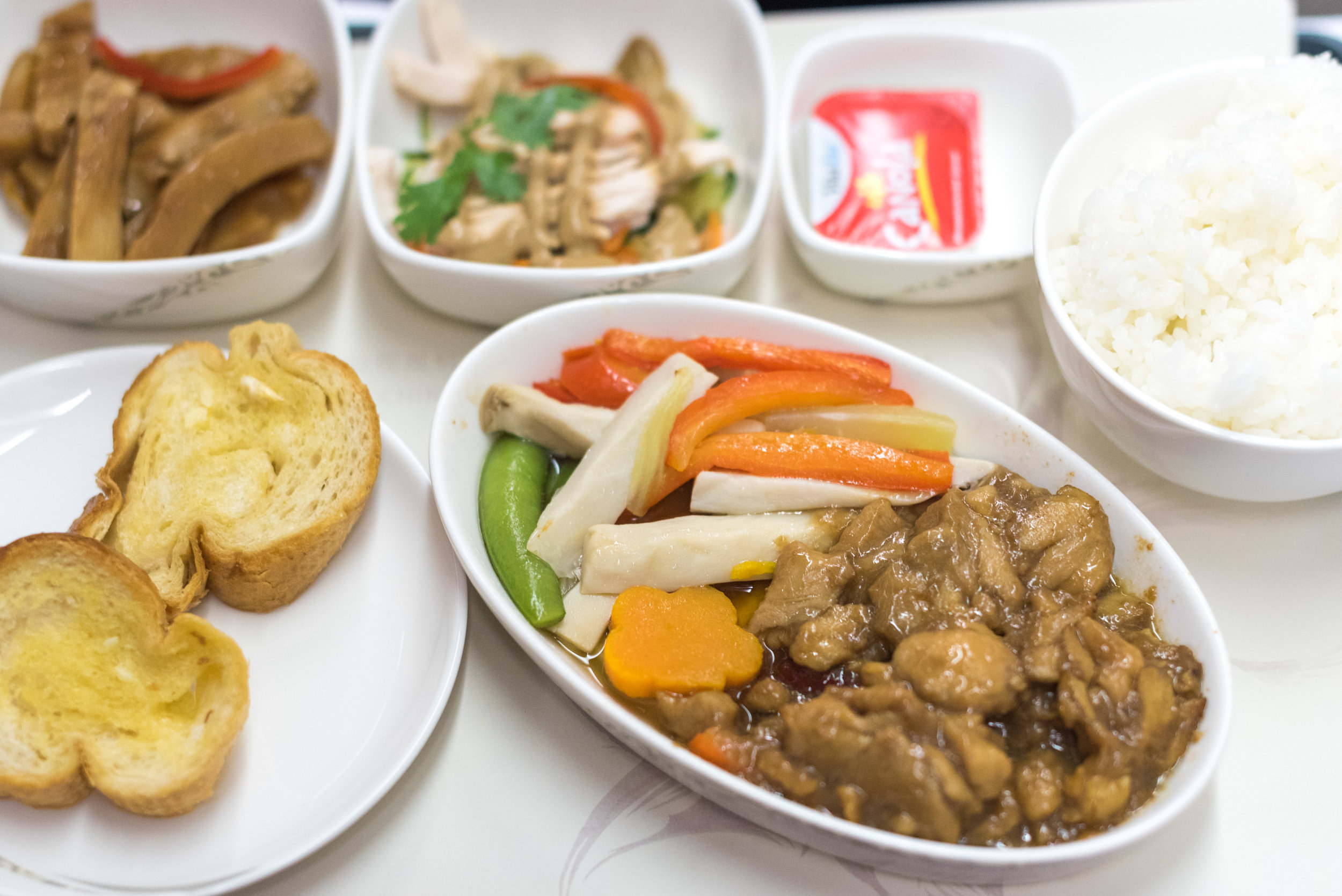 Dinner Service  Air China CA969 Business - PEK to SIN