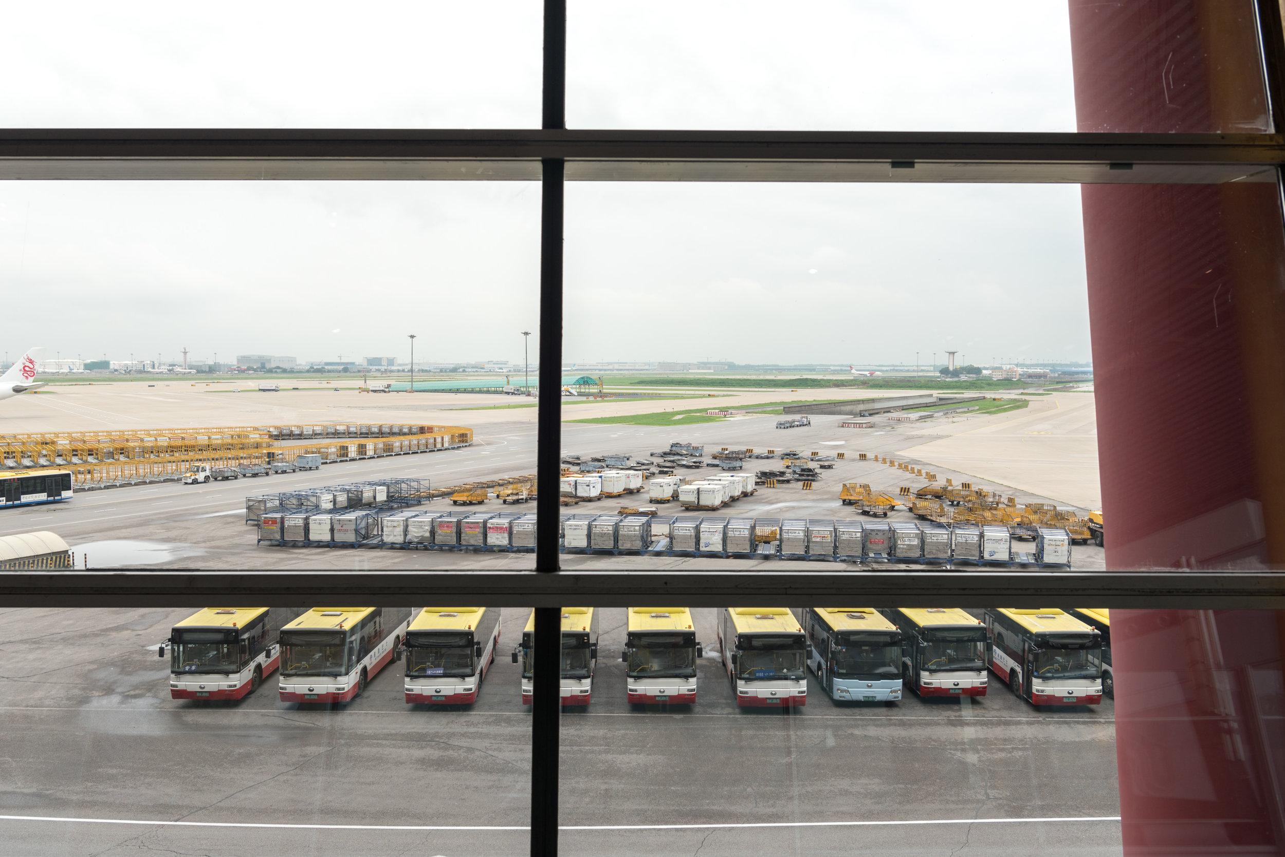 View from Air China International Business Class Lounge  Beijing Capital International Airport (PEK)