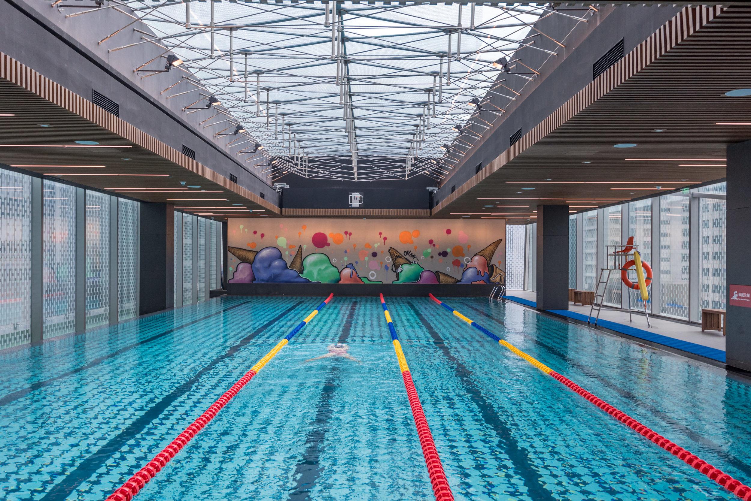 25m Swimming Pool with Skylight  Trainyard - Hotel Jen Beijing